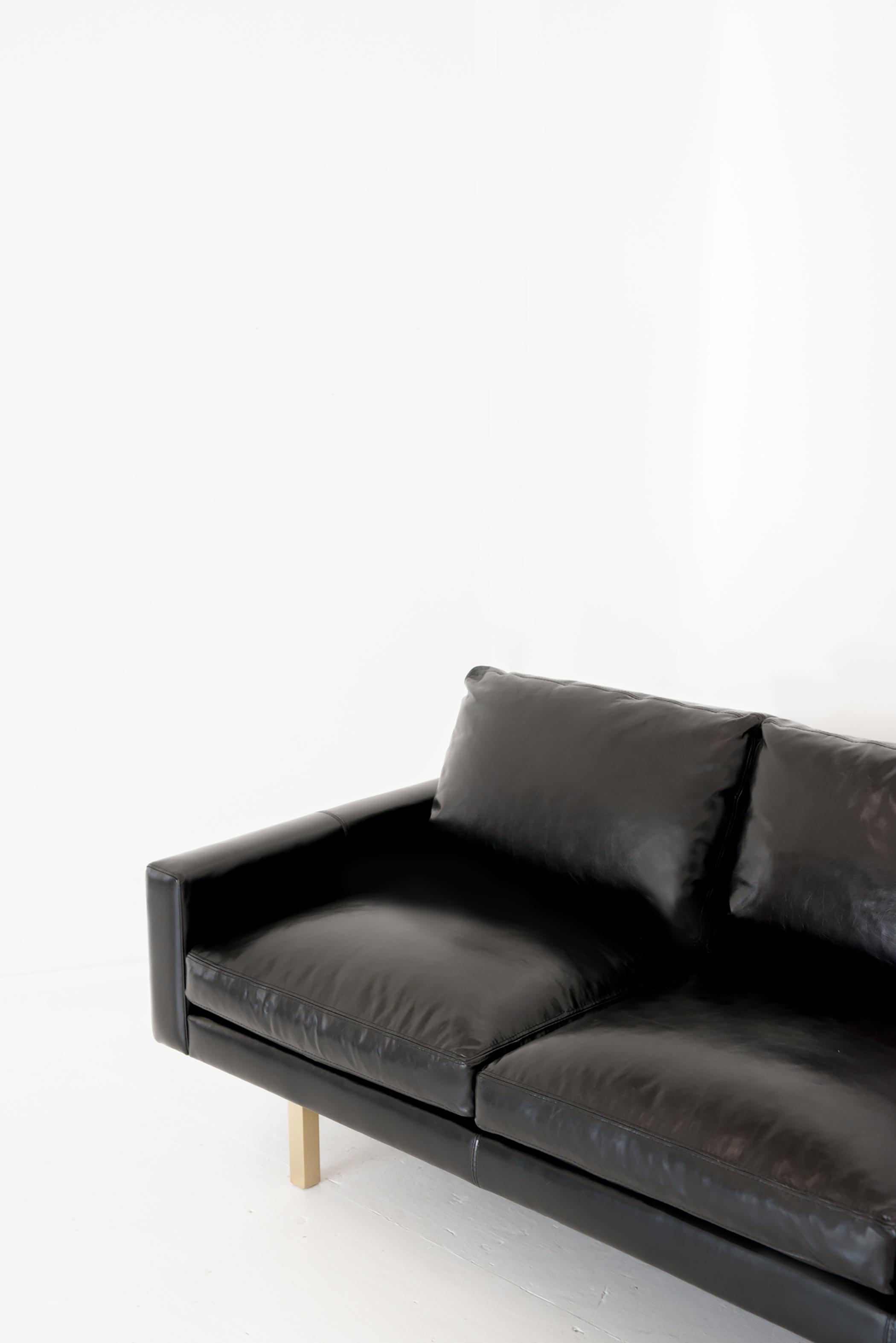 Michael Felix Standard Sofa Ebony + Brass