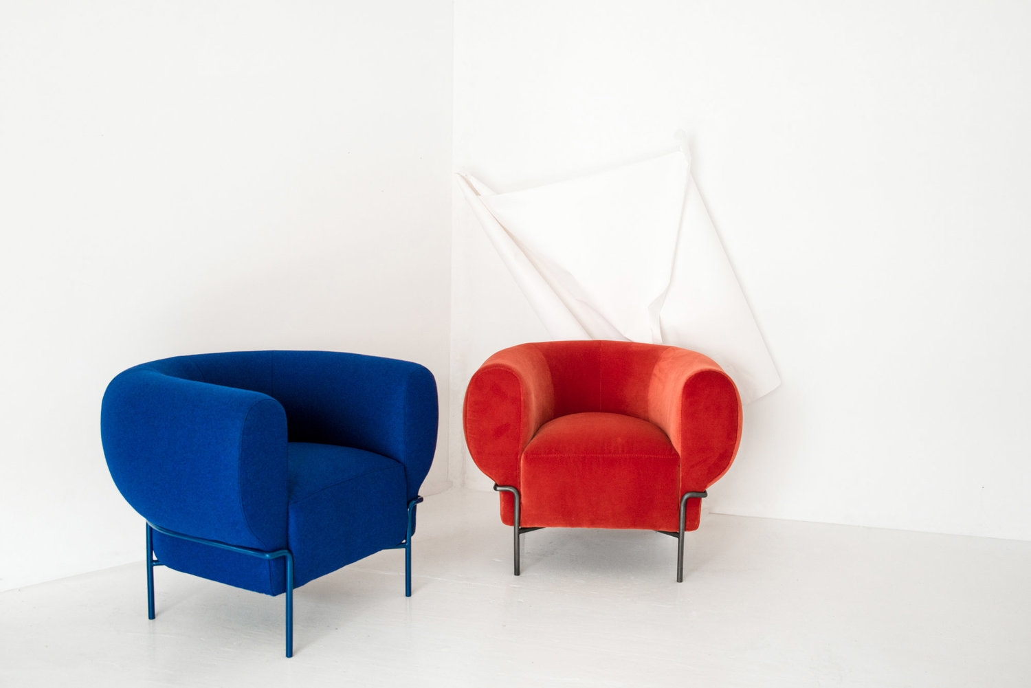 Madda Chairs in Blue and Red