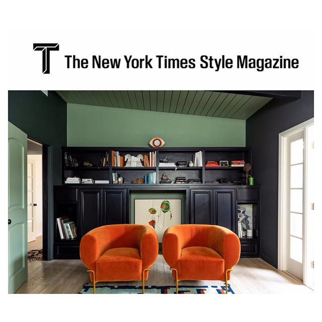 Congrats to my great friends @natalie_shirinian and @elizabethbaudouin for their feature in @tmagazine. Madda chairs💥photographed at their home by @laurejoliet