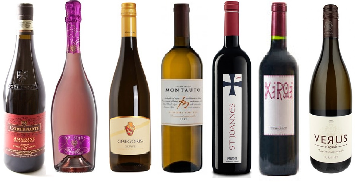 Some of the new wines introduced in March by Martin & Co. Wines
