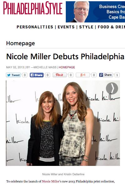 Nicole Miller Debuts Philadelphia Print in Philadelphia Style 2013