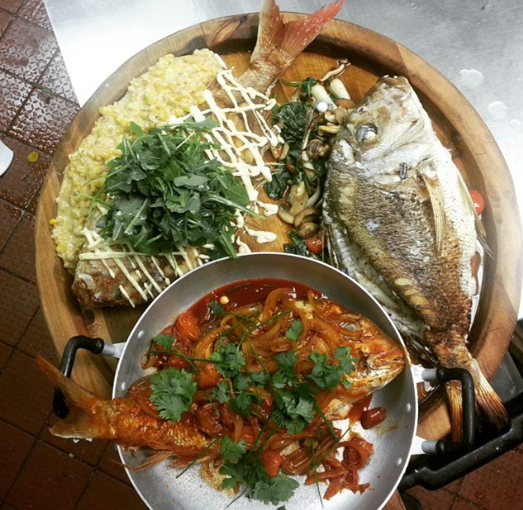New Zealand Red Sea Bream done in three ways by Chef Rodrigo at Rodney's Oyster House Toronto.