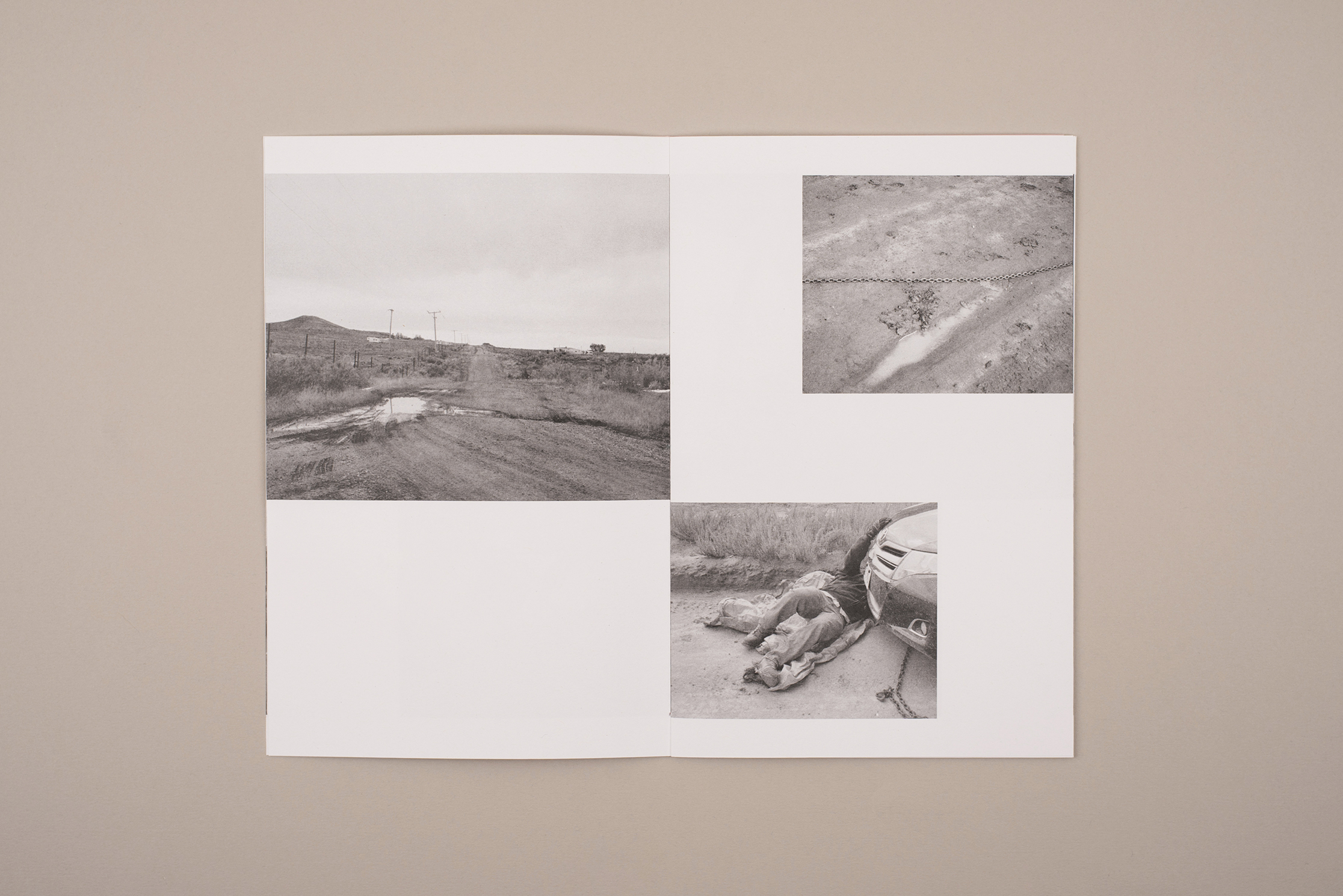 Space Cowboy zine, photography by Jack Latham. Poem by Sofia Kathryn Smith. A zine about hitchhiking in America. Black and white Photographs.