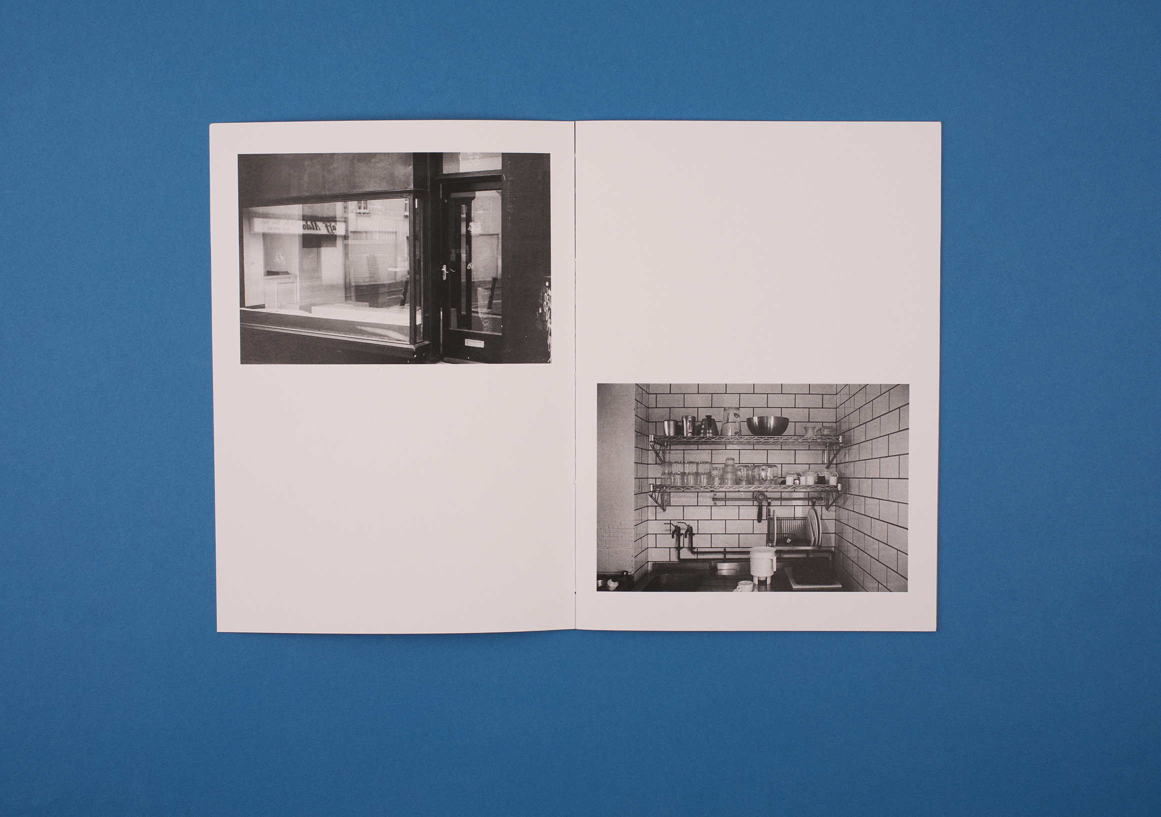 Beyond Work Zines by Photographer Curtis James. Black and white photographs from 'barista' zine.