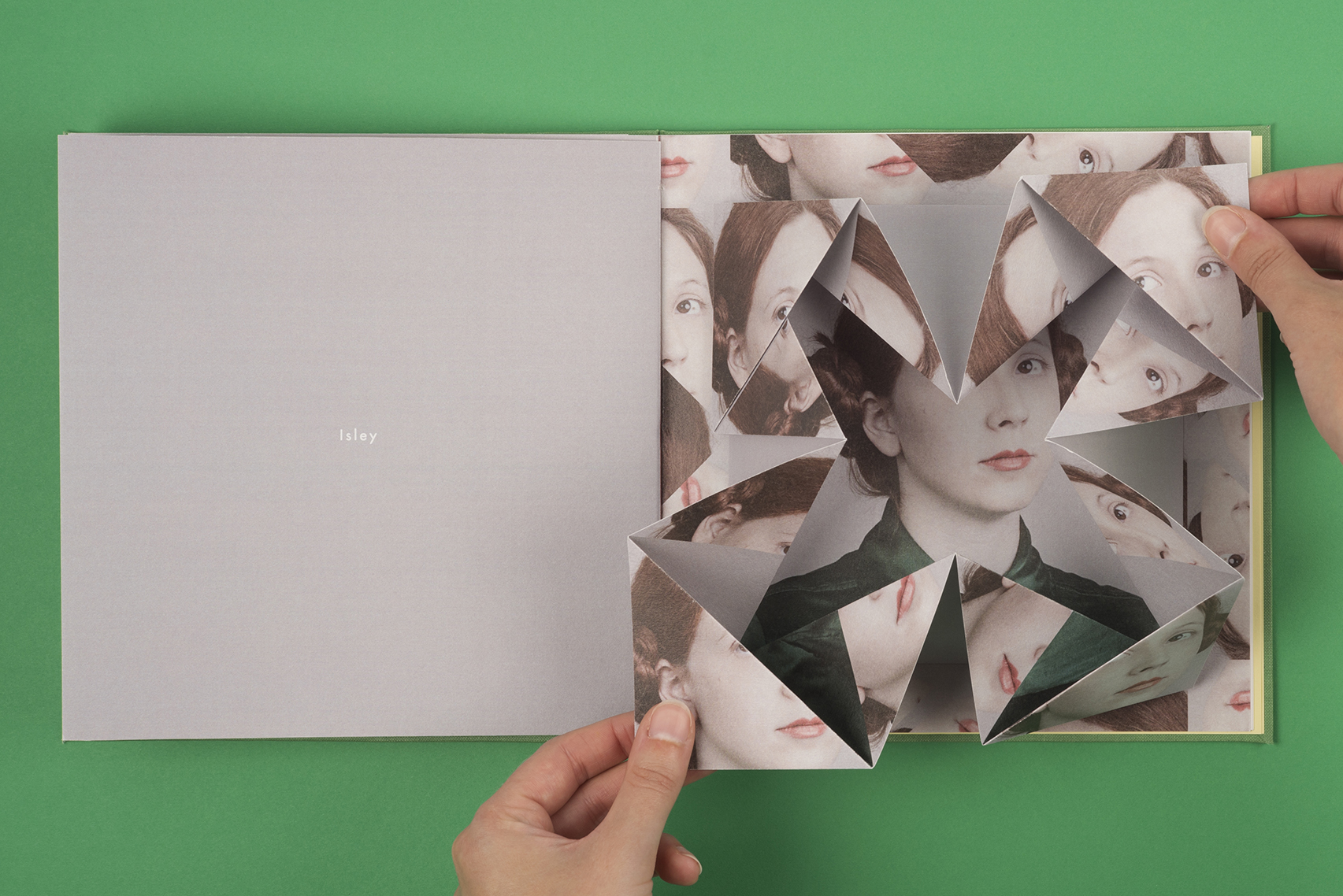 Alma Haser's Cosmic Surgery pop up book. First Edition. Isley paper mechanics portrait.