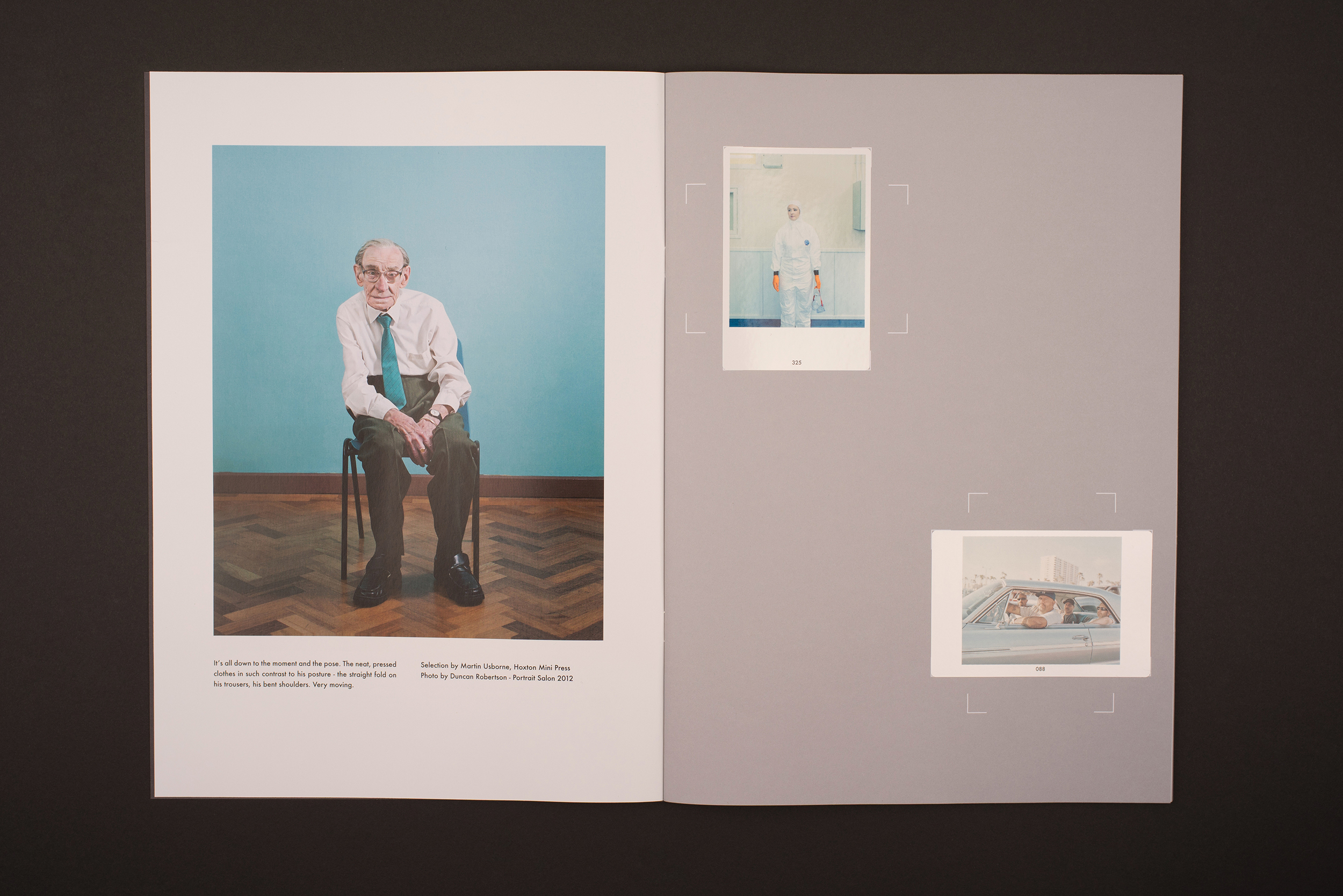 Portrait Salon 2015, 5th year anniversary. Sticker book. Main photograph by Duncan Robertson.