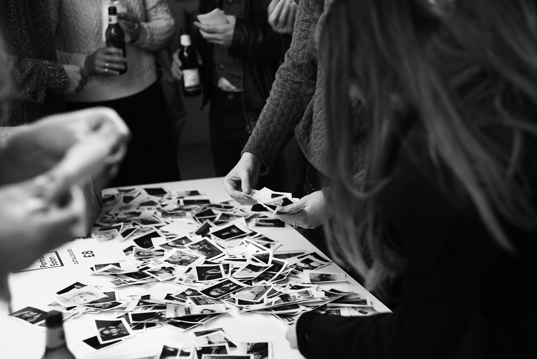 Portrait Salon 2015, 5th year anniversary. Sticker book. Sticker Exchange at exhibition launch.
