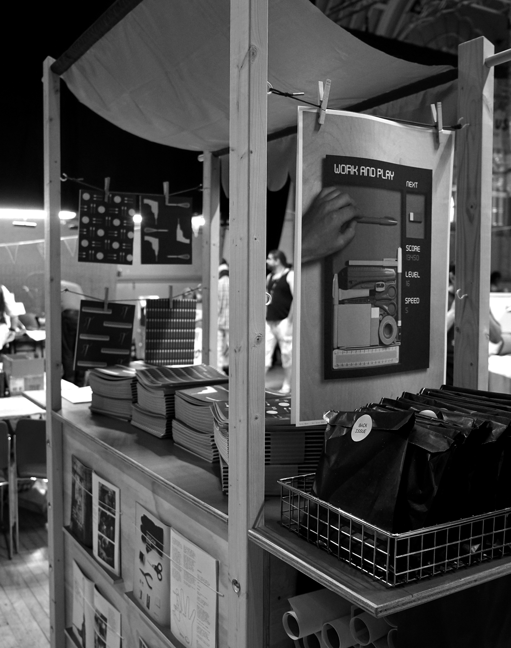 Maker Faire. Market stall.