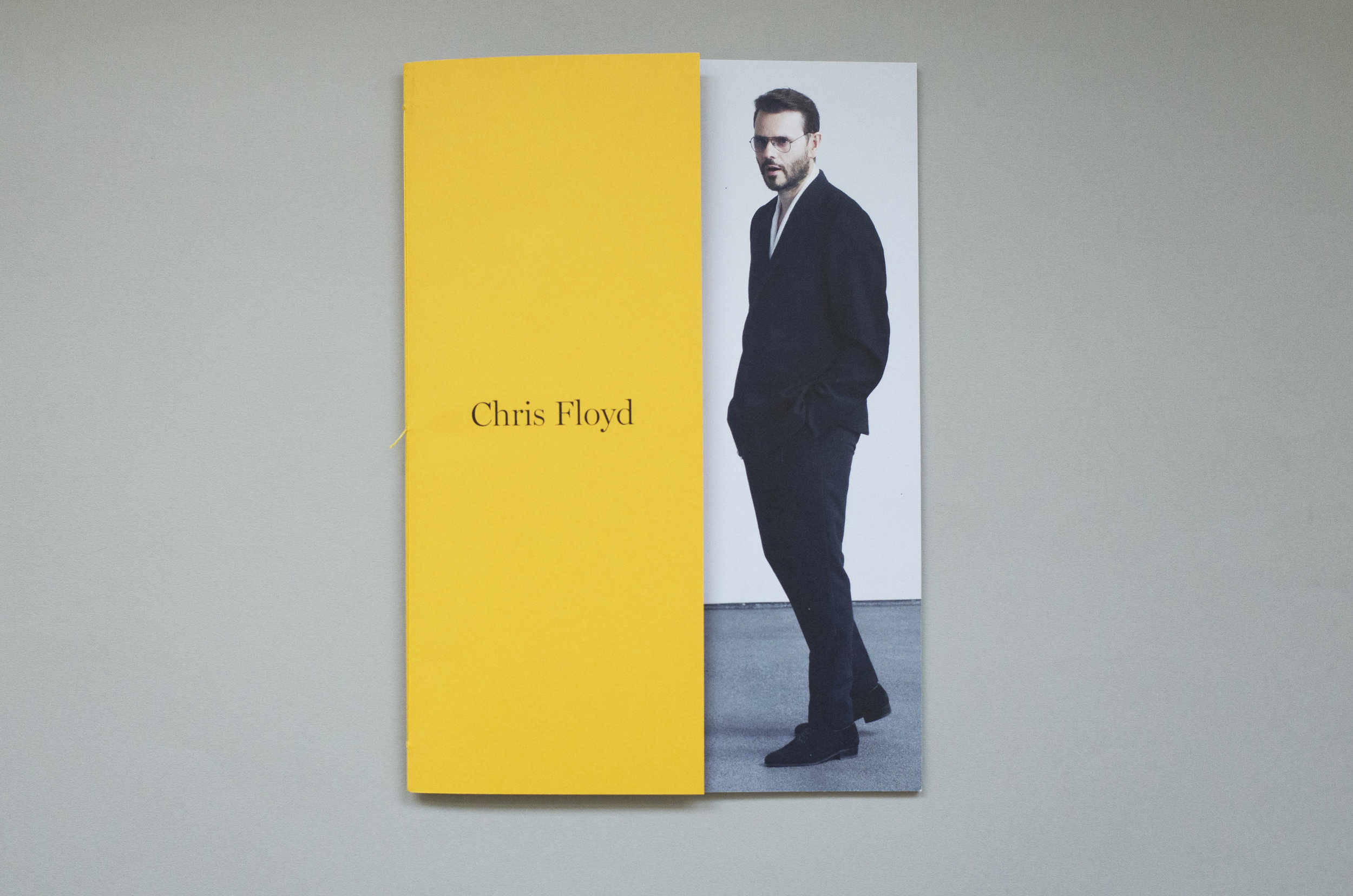 Chris Floyd promotional book, Front cover, GFSmith Colorplan paper, Carlo Brandelli