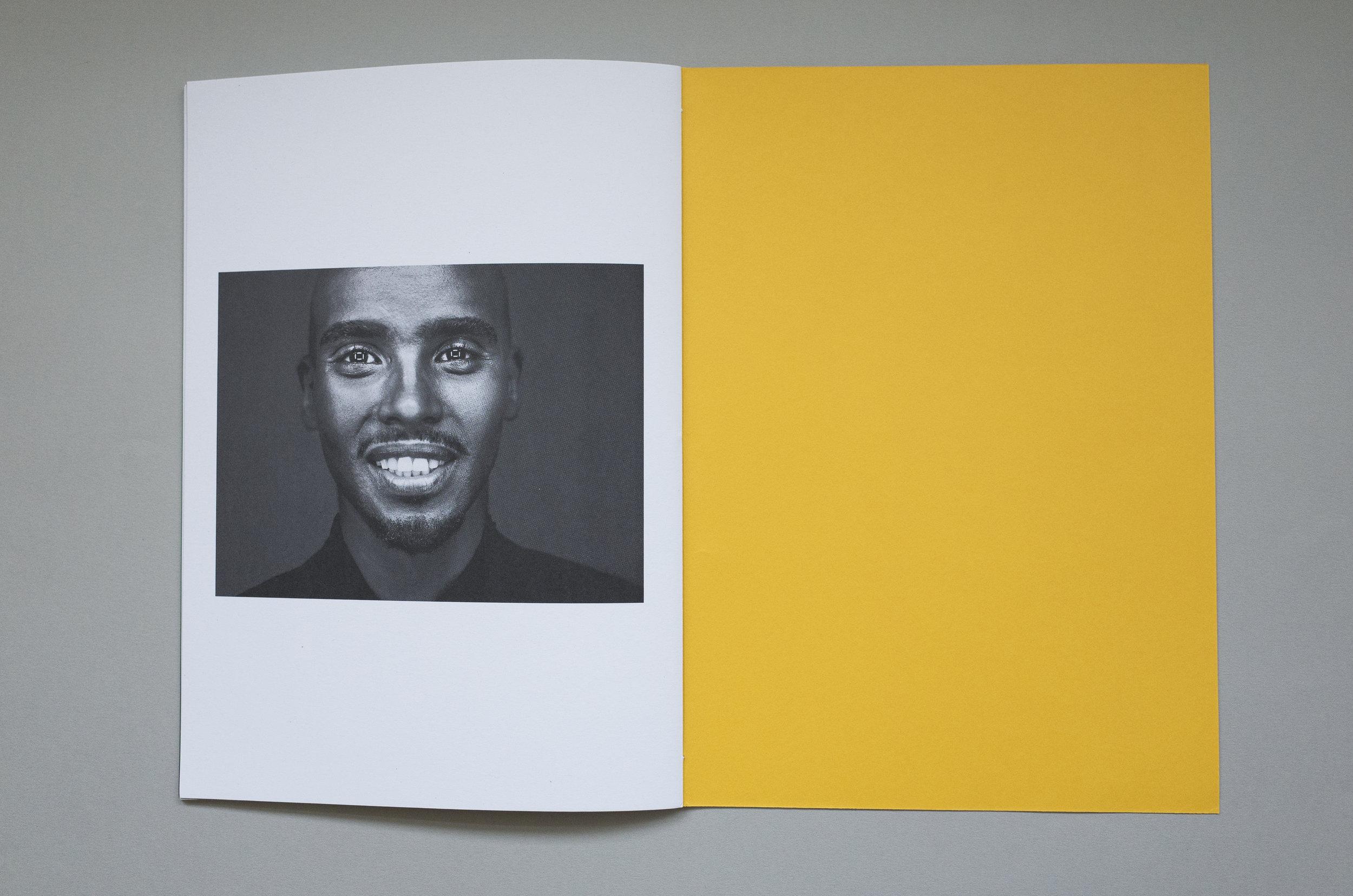 Chris Floyd promotional booklet, Mo Farah, GFSmith Colourplan