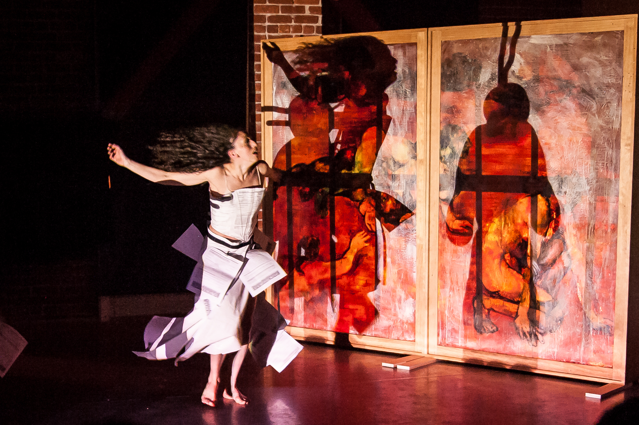 Daiane DaSilva from  Kinetech Arts . Photo by  Andrew Sherman Photography . Costume by  Sage Reed .2014 March 22