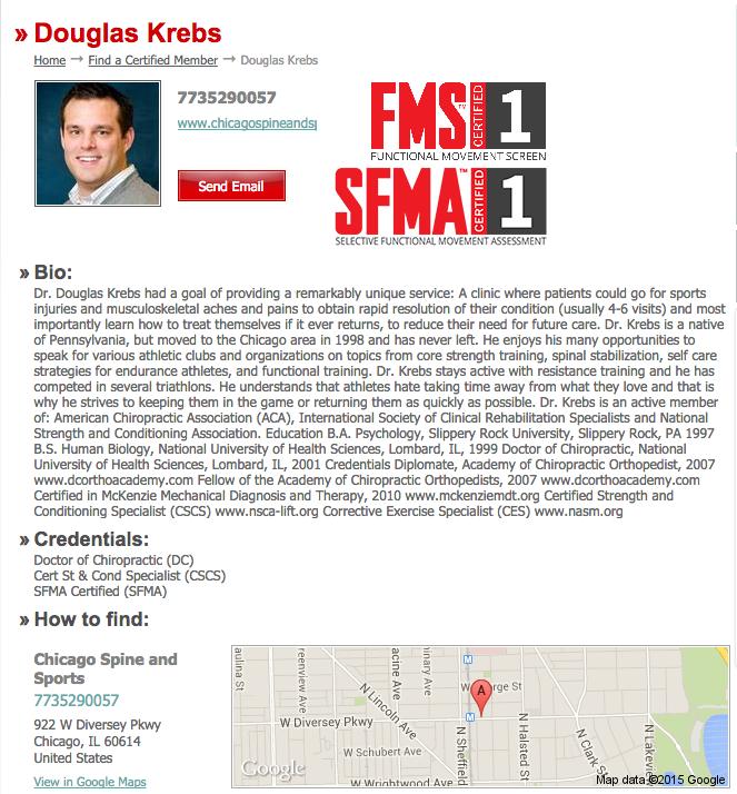 FMS SFMA Profile