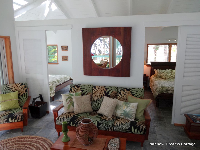 Living Room of Rainbow Dreams Cottage