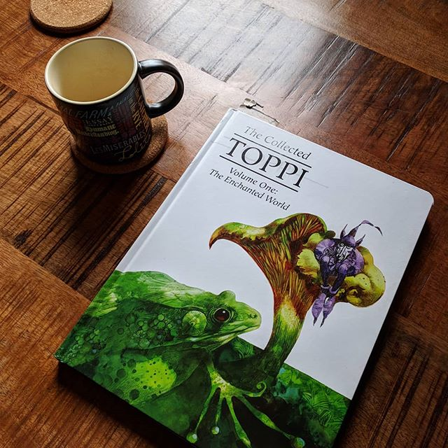 Some Saturday morning reading. Beautiful new English edition of the Collected Toppi. A true master.