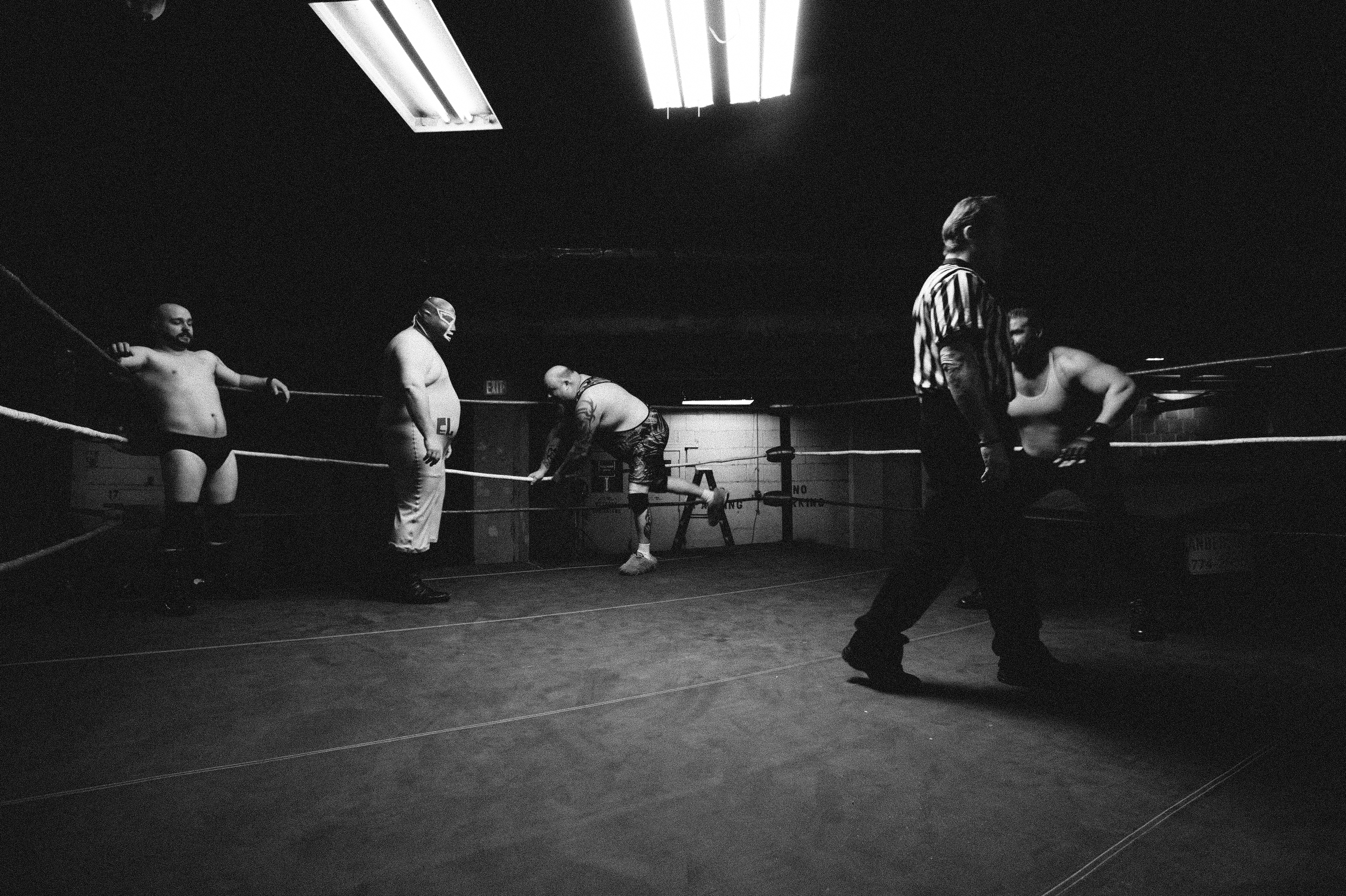 In the ring with the main cast