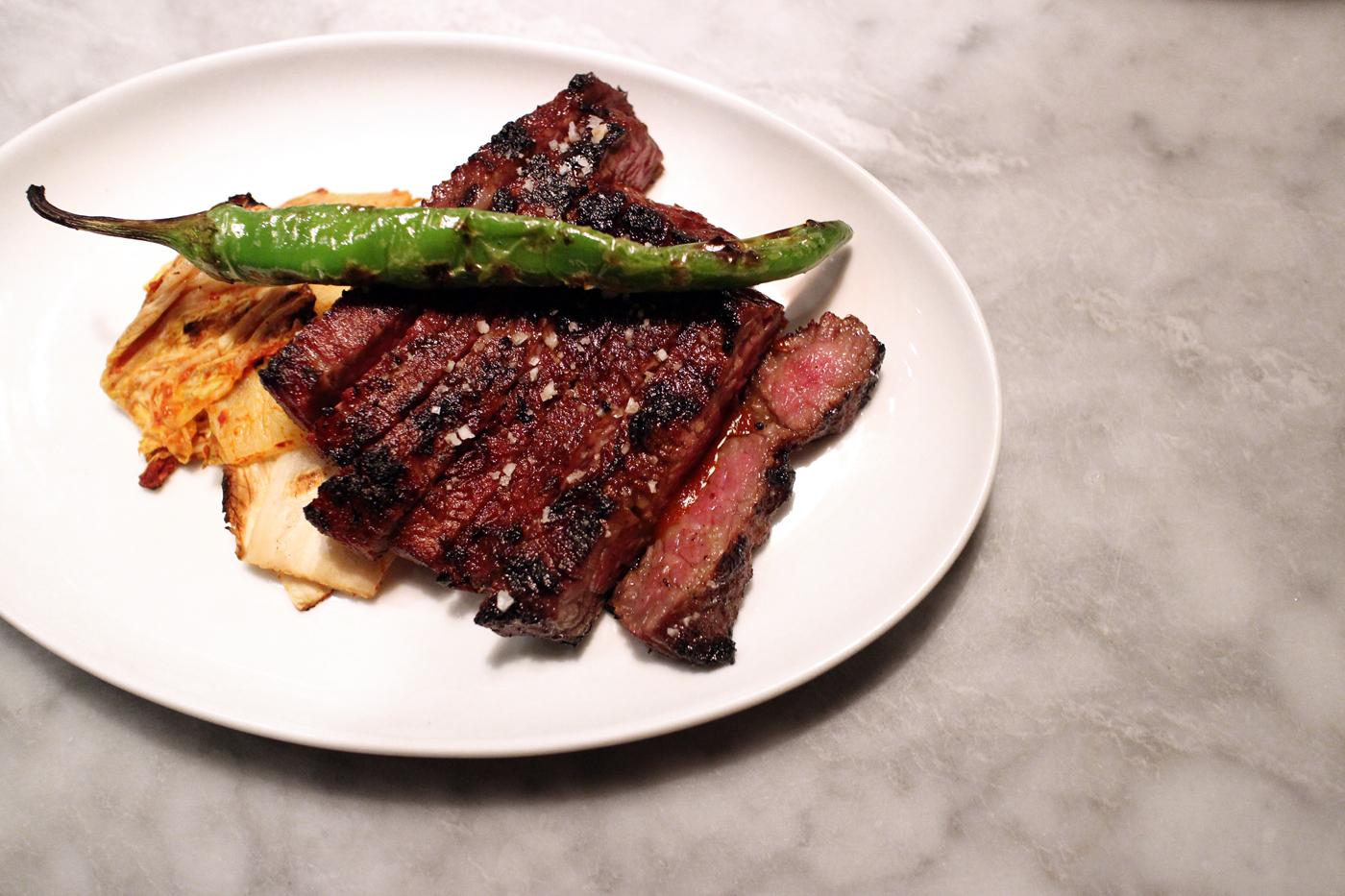 """that"" short rib steak, kalbi, grilled kimchi, 8oz, WA"