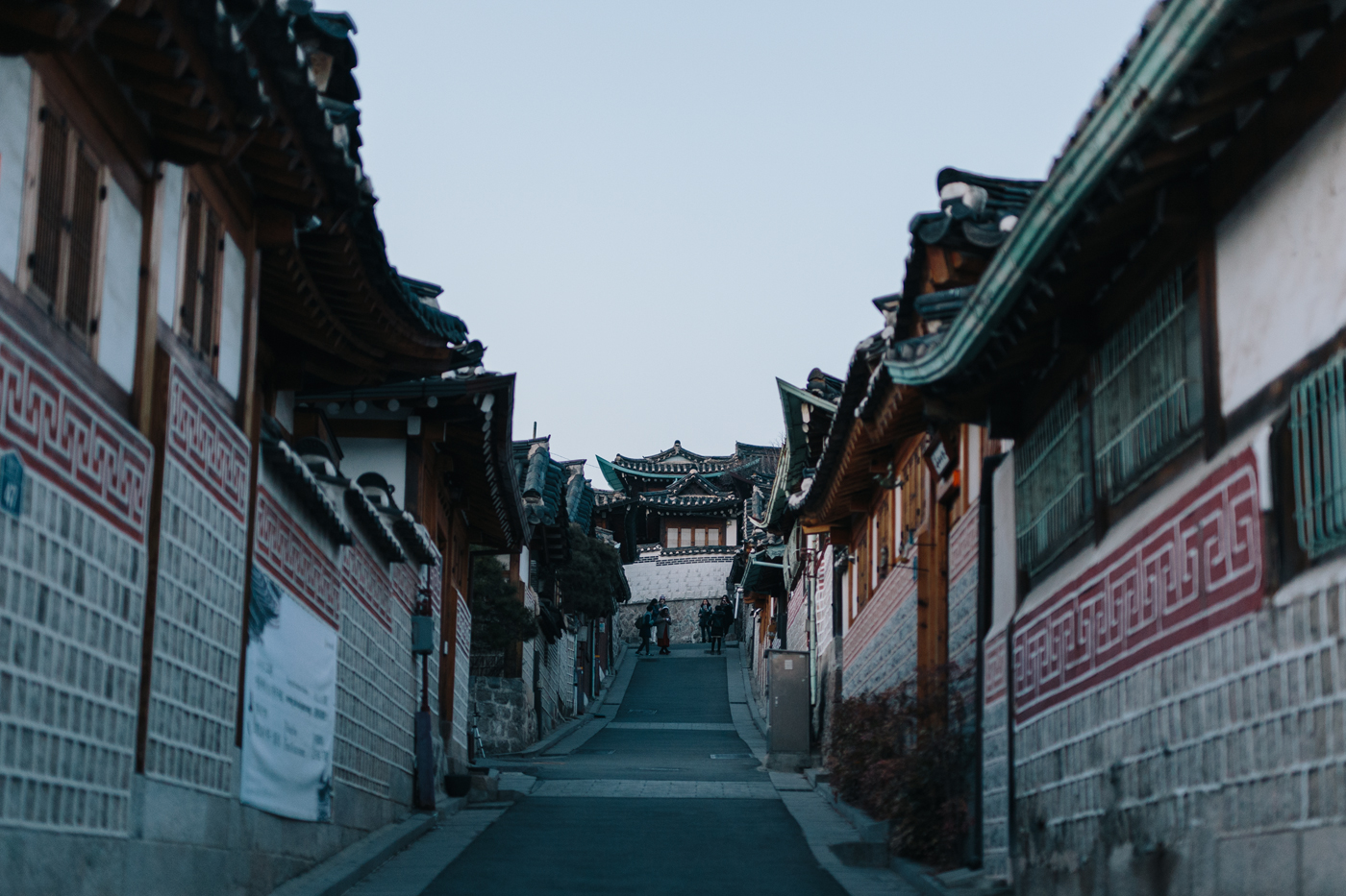 Winter in Seoul:Bukchon Hanok Village (북촌한옥마을), Seoul, South Korea.