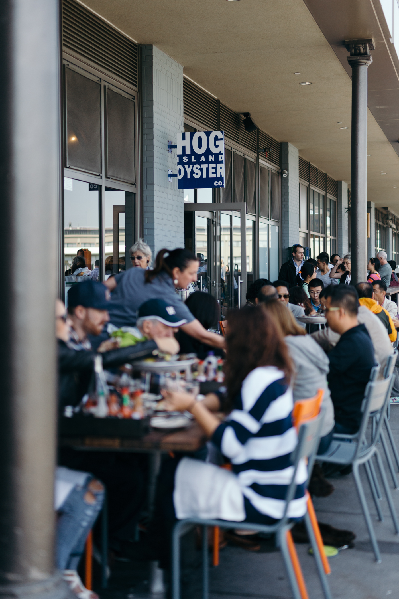 San Francisco Restaurant Series: Hog Island Oyster Co., Ferry Building, San Francisco.