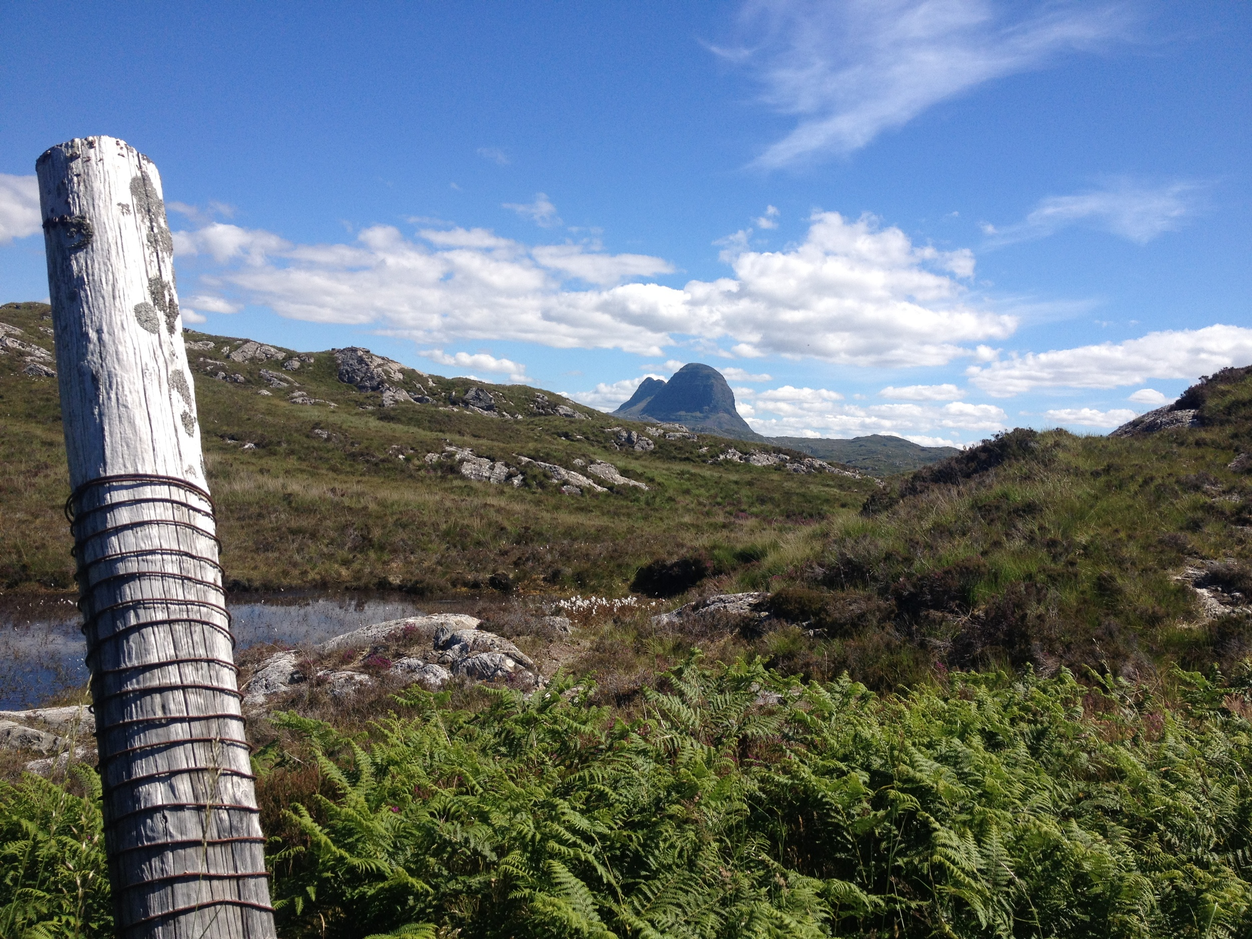 Suilven, a long climb ahead.