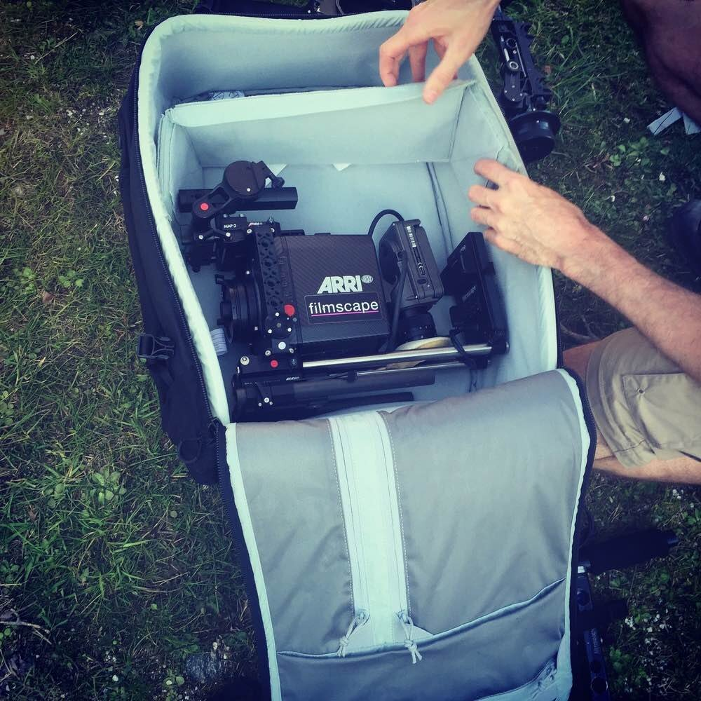 Packing away the Arri Alexa mini for the big climb!