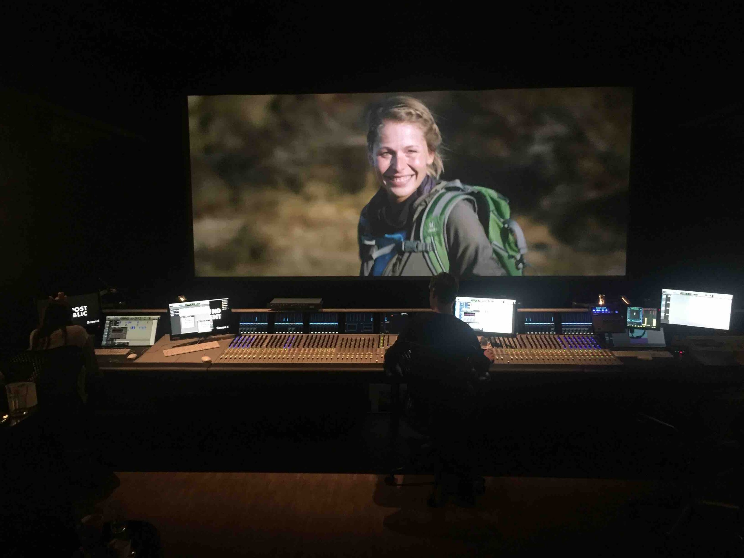 Mixing the soundtrack in Dolby Atmos at Post Republic in Berlin