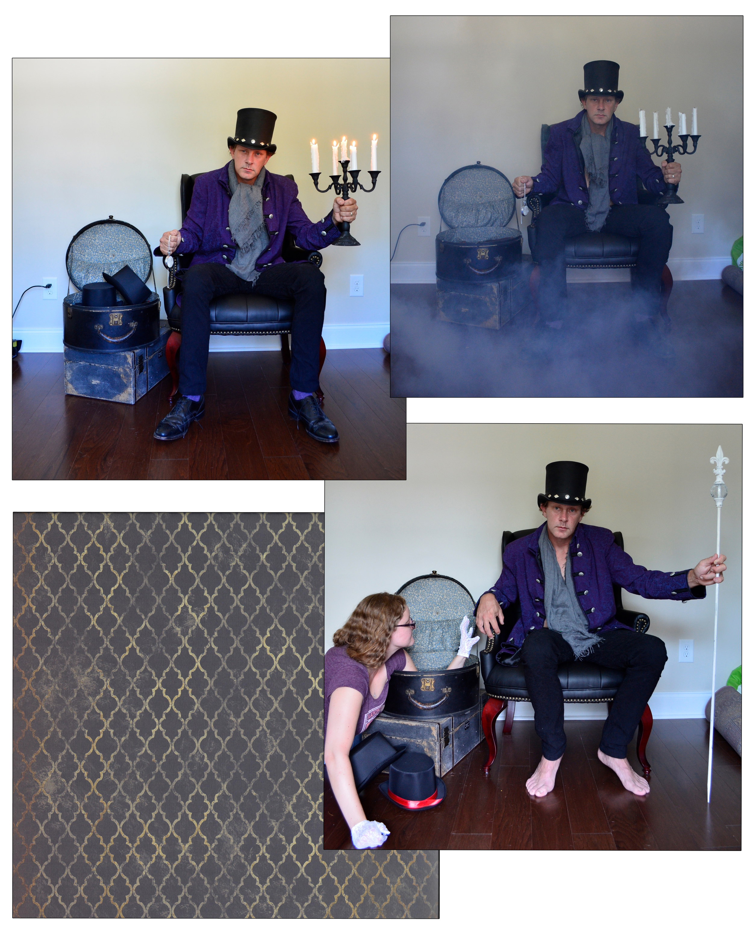 Images used in the making of the Mad Hatter.