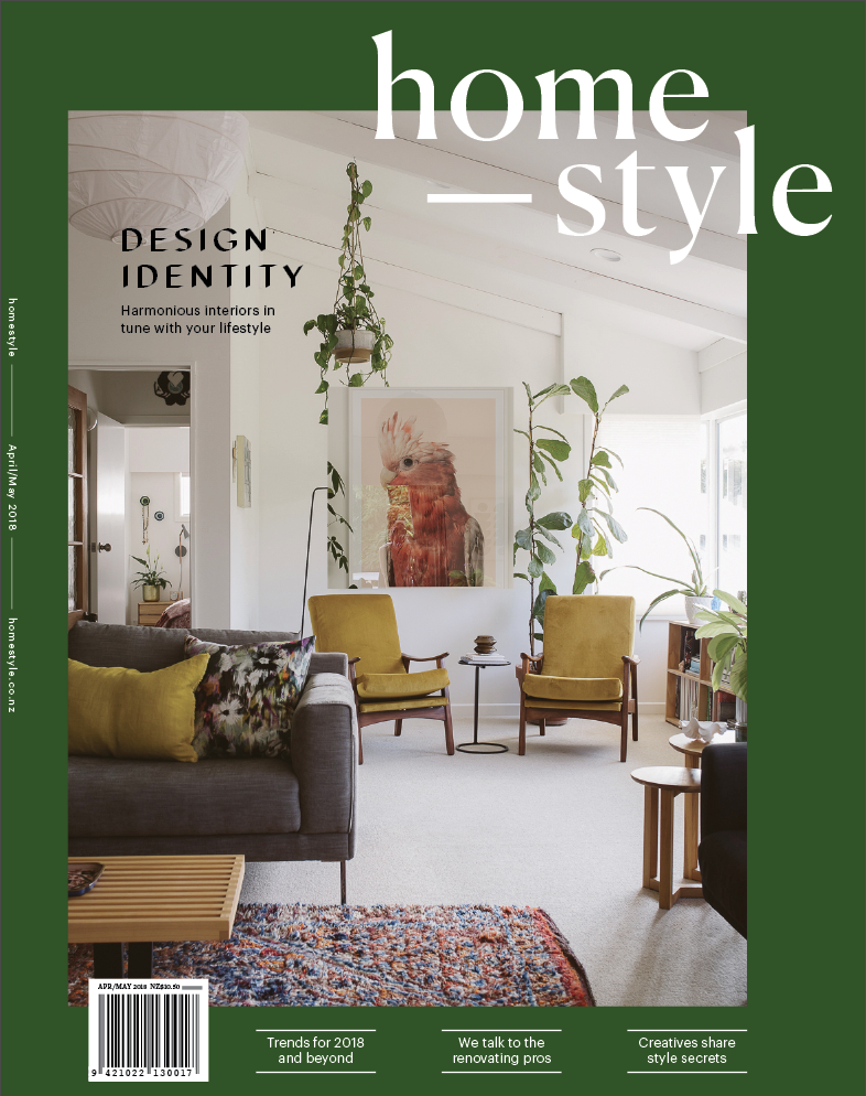 Cover Love - We were thrilled to to shoot the home of New Plymouth couple Paul and Fleur Newbold for the cover of the new look Homestyle Magazine.Check out the rest of their cleverly restored home.