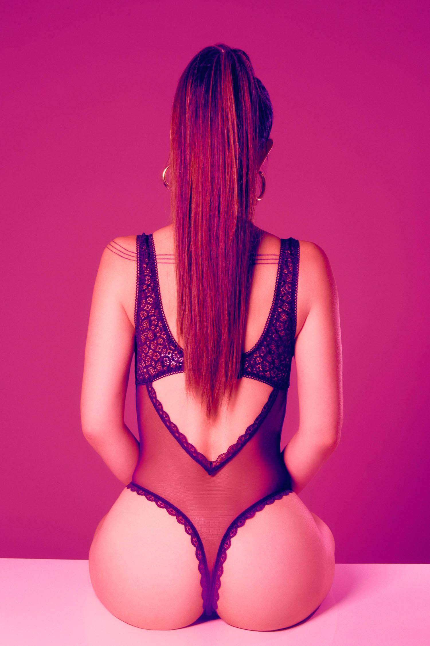Ariana Grande themed boudoir photography
