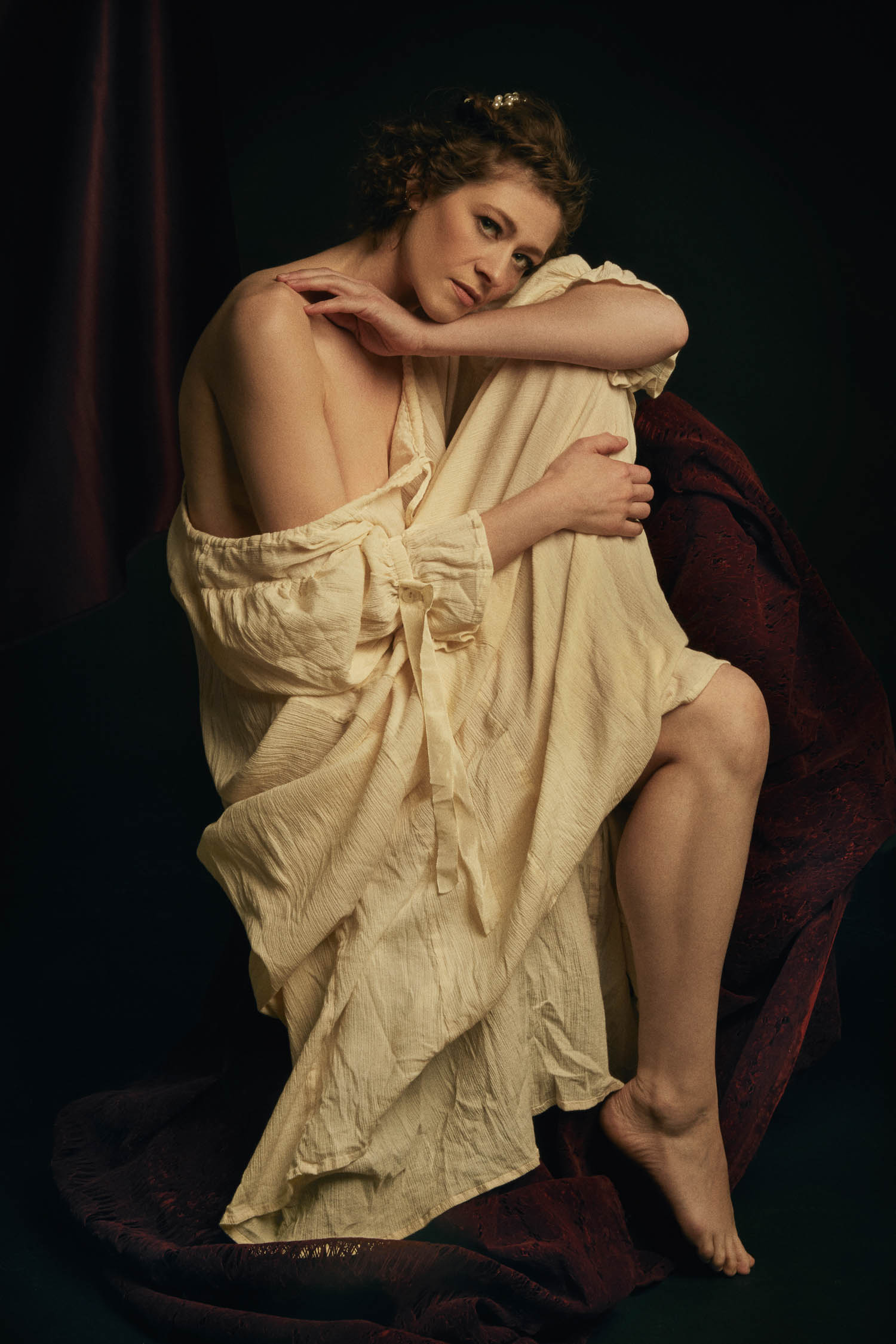 Renaissance themed boudoir photography