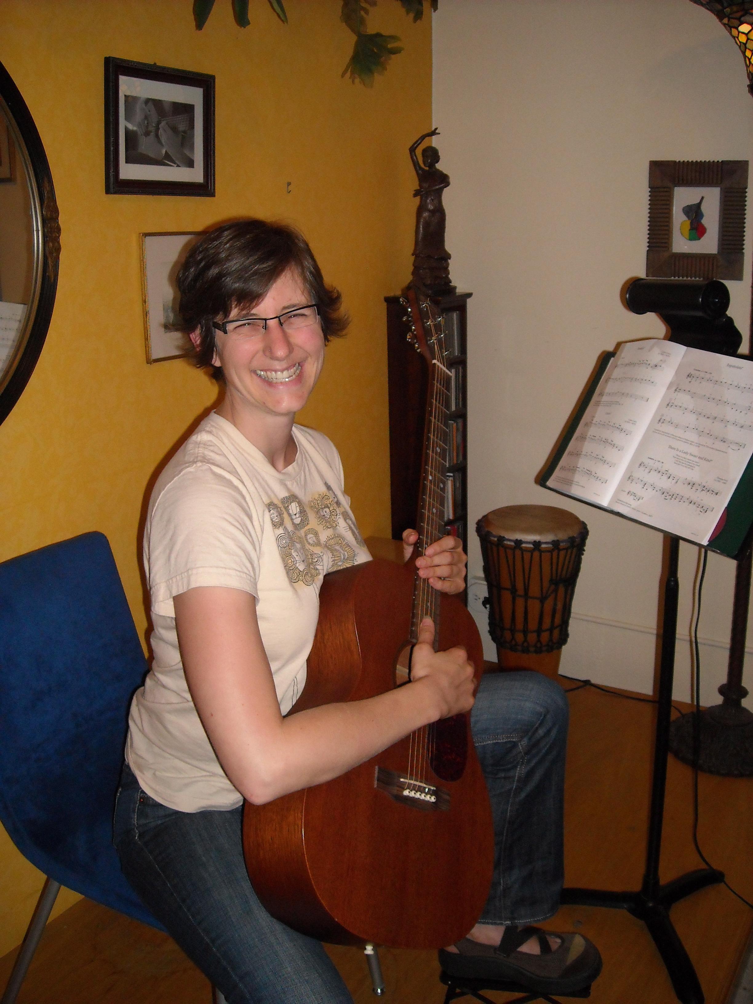 Rachael playing etudes.