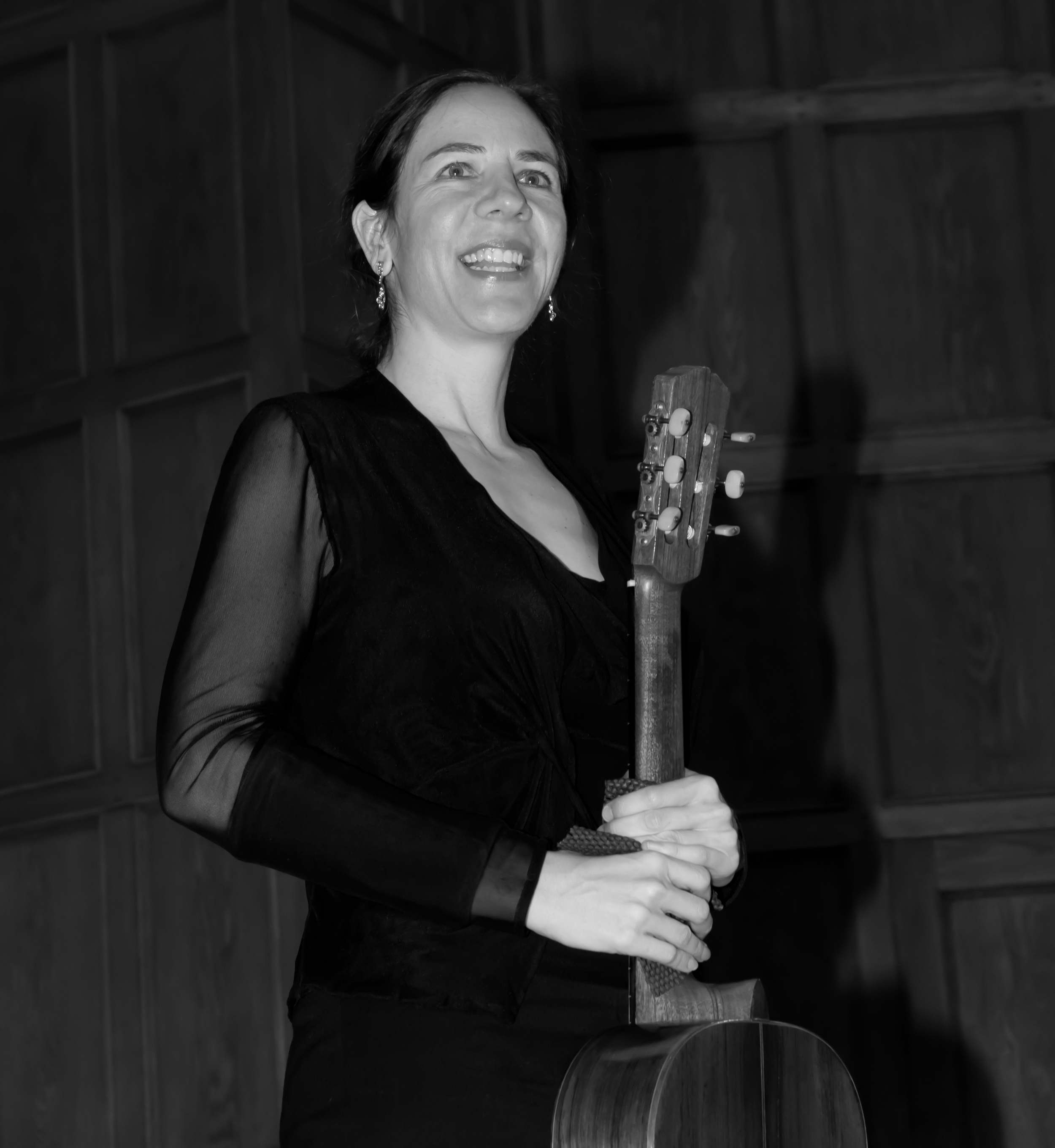 Jennifer in Lutkin Recital Hall, Evanston, IL, 2011.
