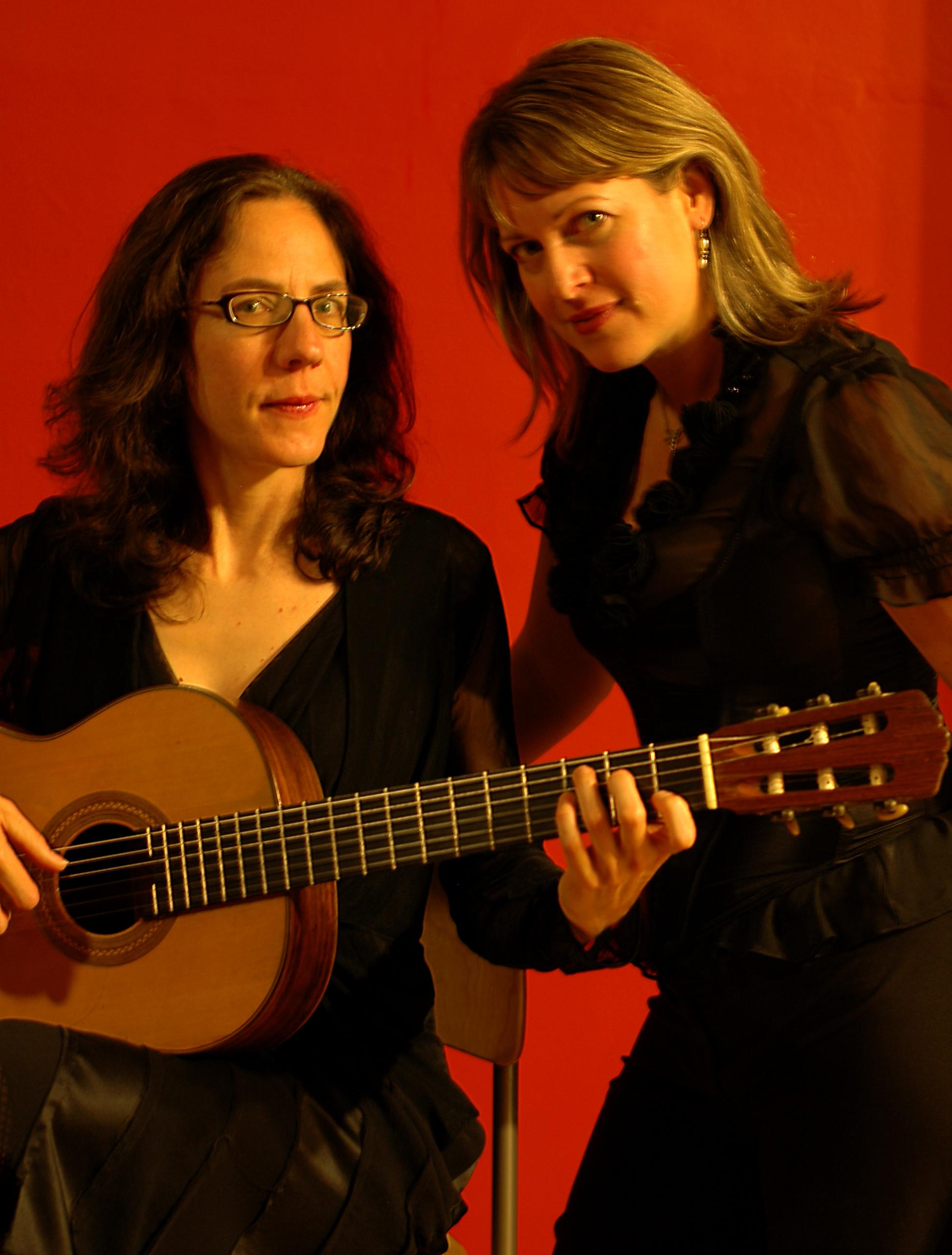 Jennifer Trowbridge and Buffy Baggott performing Spanish art songs by Joaquin Rodrigo and Manuel de Falla.
