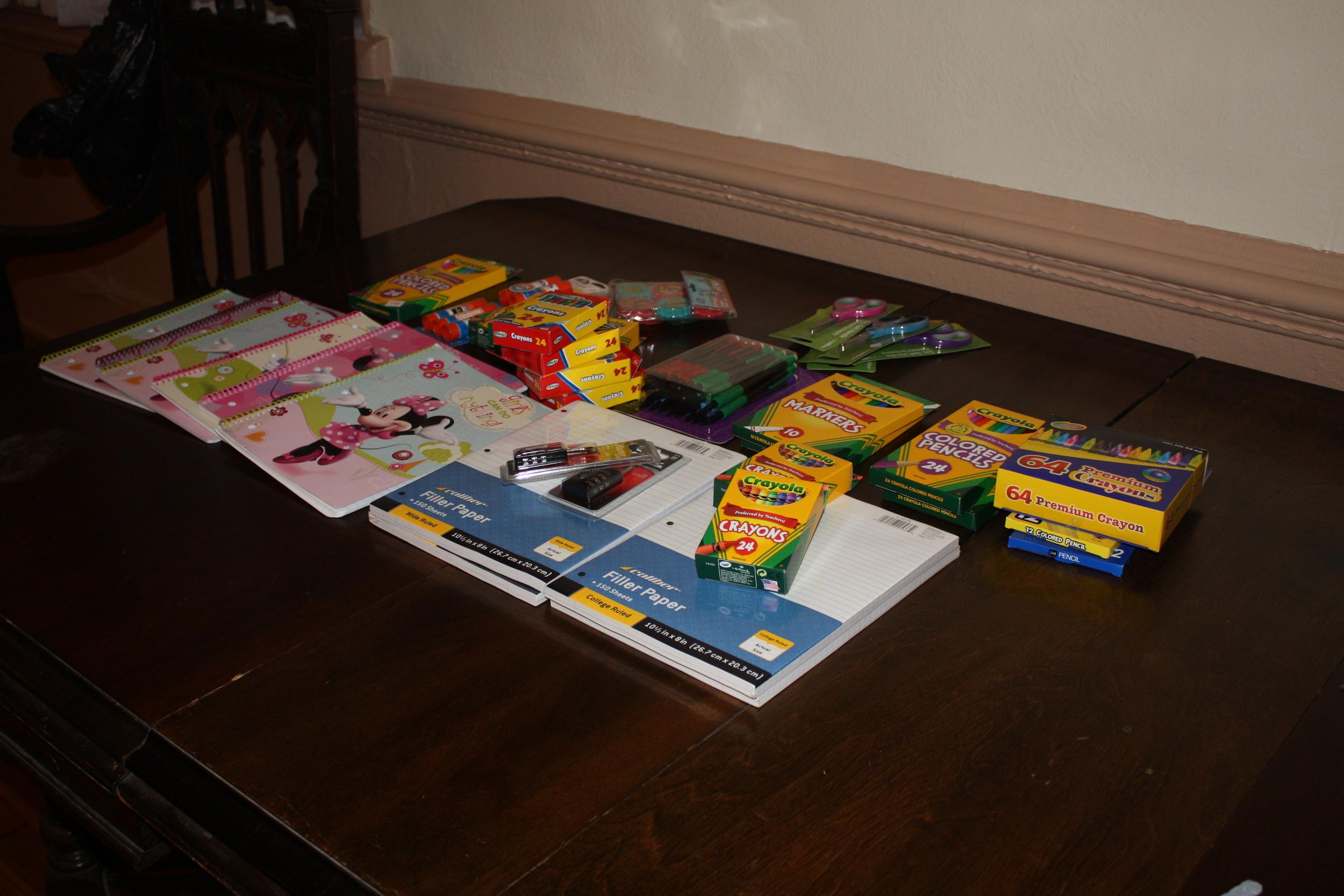 WSS School Supplies