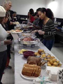 Thanksgiving lunch with the residents of the YWCA of Brooklyn
