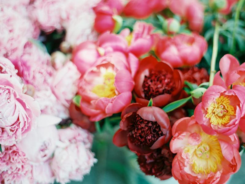 Linnea Paulina Photography Film Wedding Photographer, Portland Farmer's Market Peonies