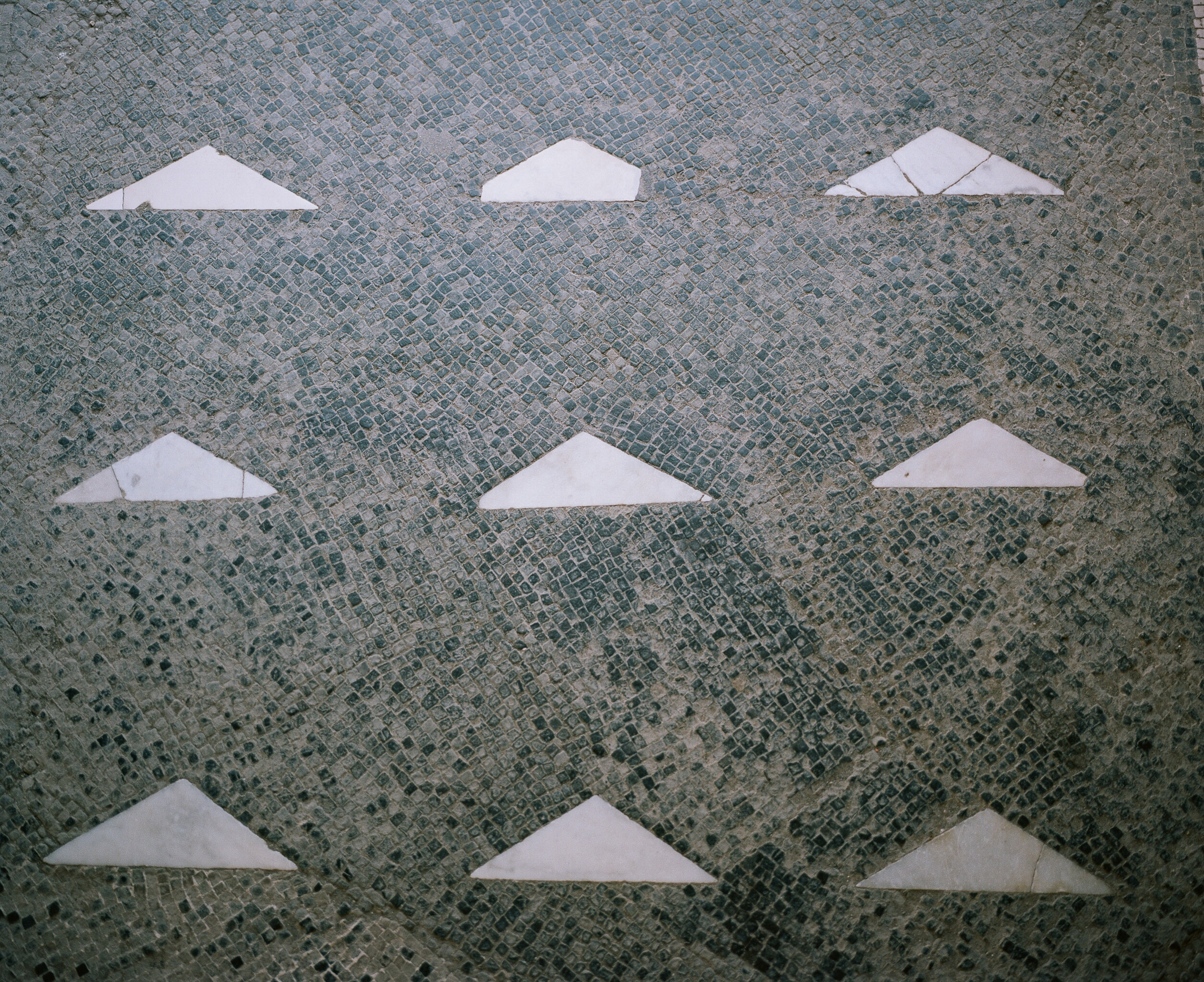 Triangle tile work in Europe