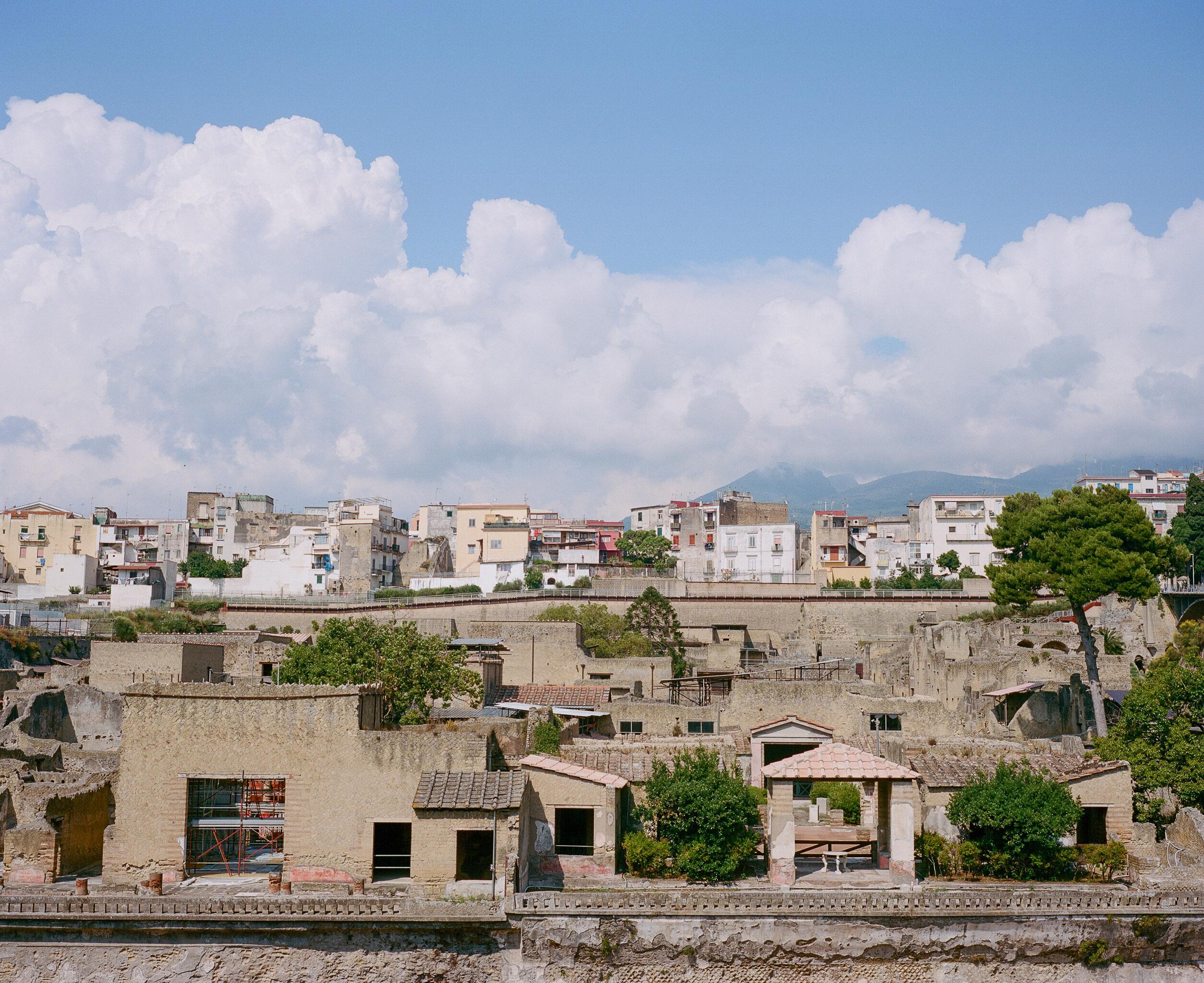 Clouds over Hurculeum ruins in Italy