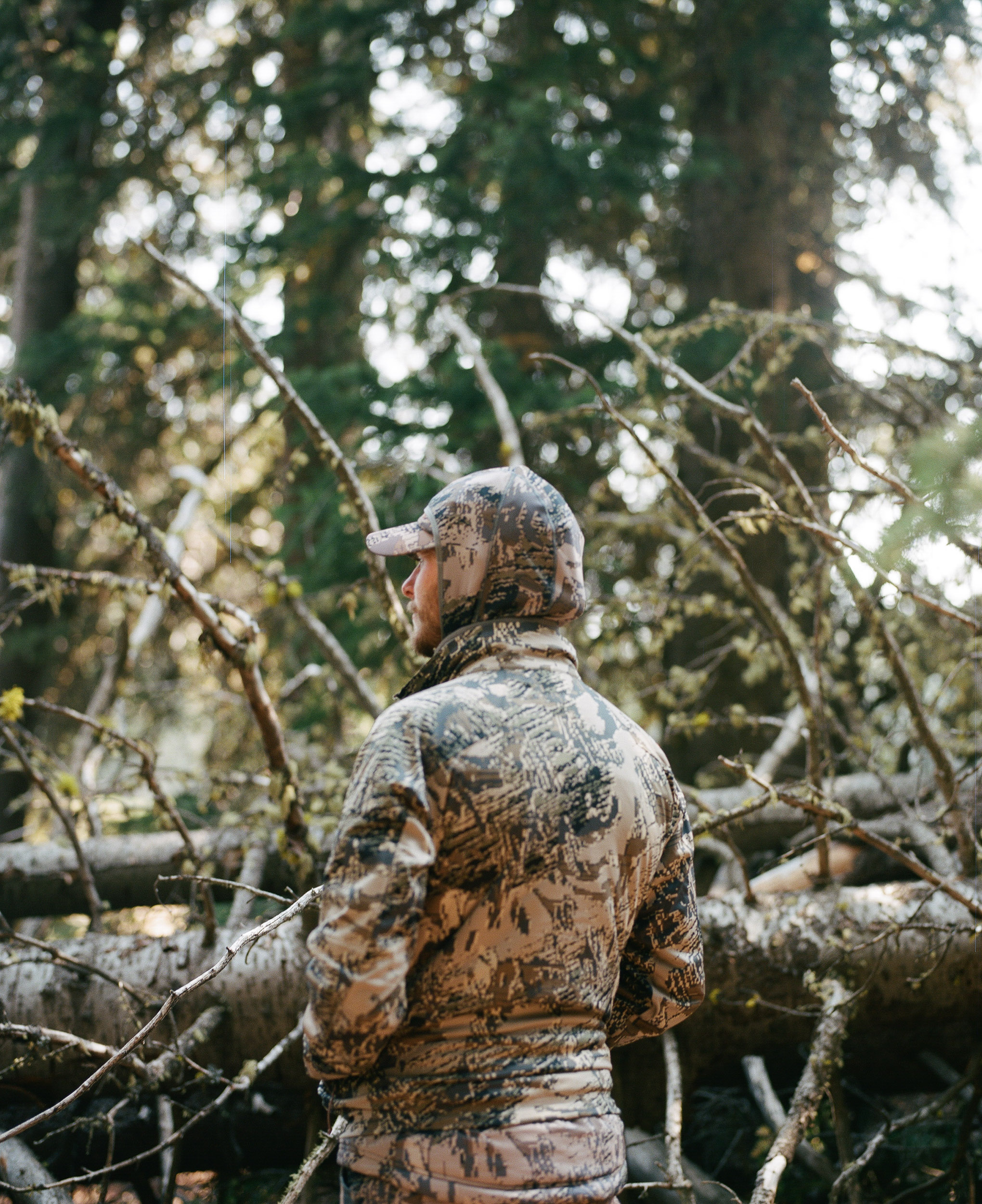 Hunter in Sitka Camouflage