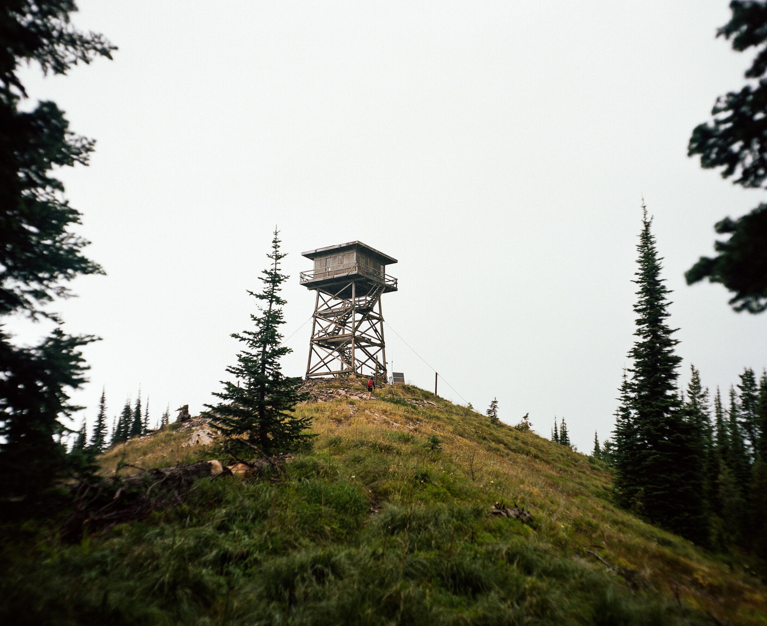 Firewatch tower on a hilltop Libby, Montana