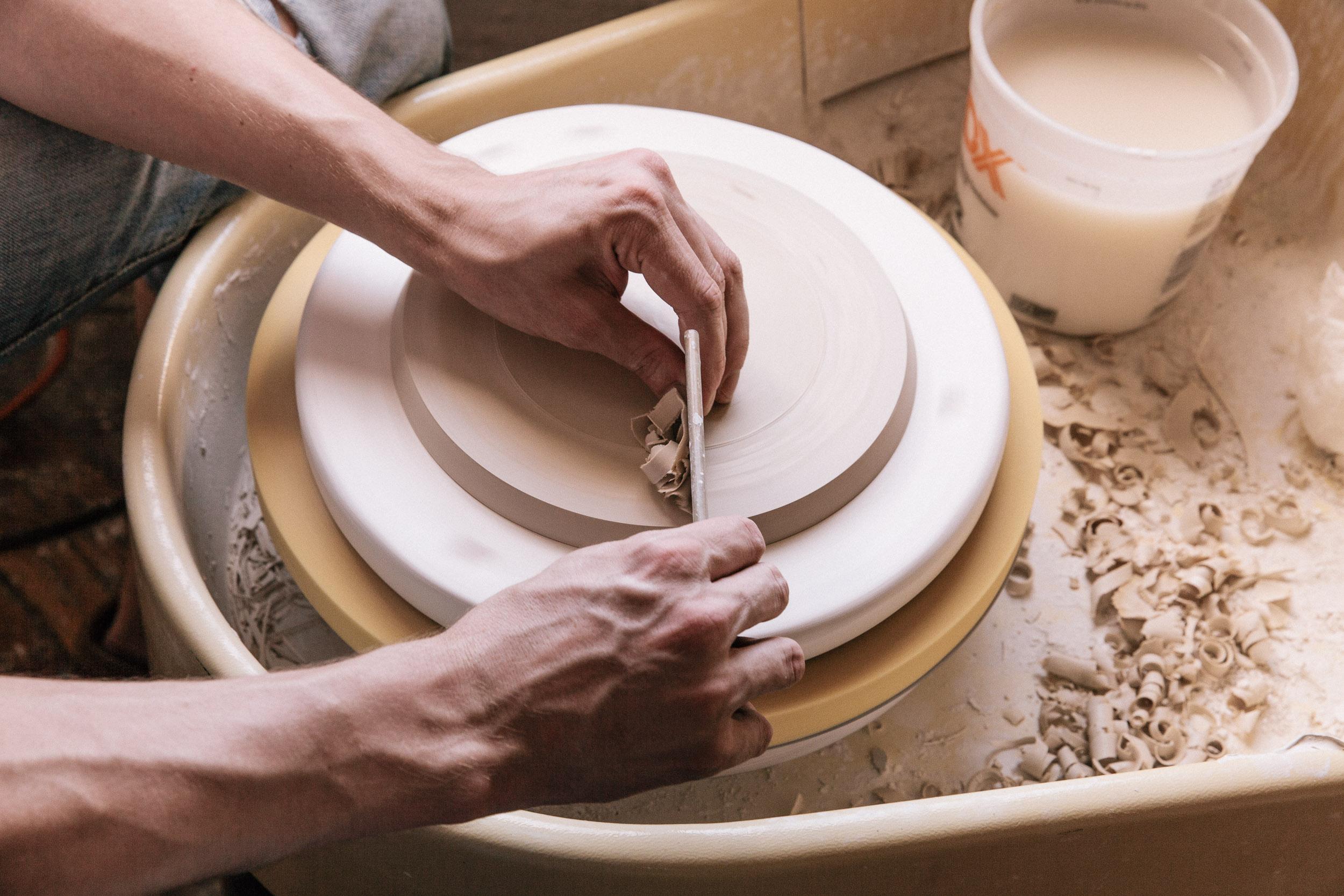 Photographs of Felt+Fat ceramics for Woven Magazine