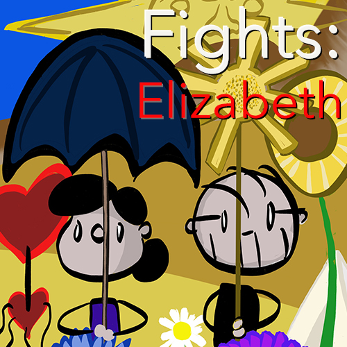 Fights 3: Elizabeth   The tragistupid drama in which we encounter an insane landlord. Collected as JepComix 8.