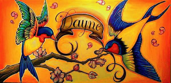 Acrylic on canvas  2'x5'