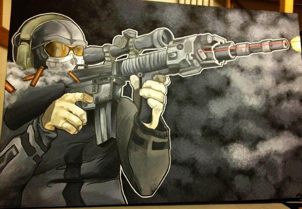 Acrylic on canvas  2'x4'