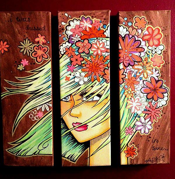"Acrylic on canvas- Triptych    14""x14"""