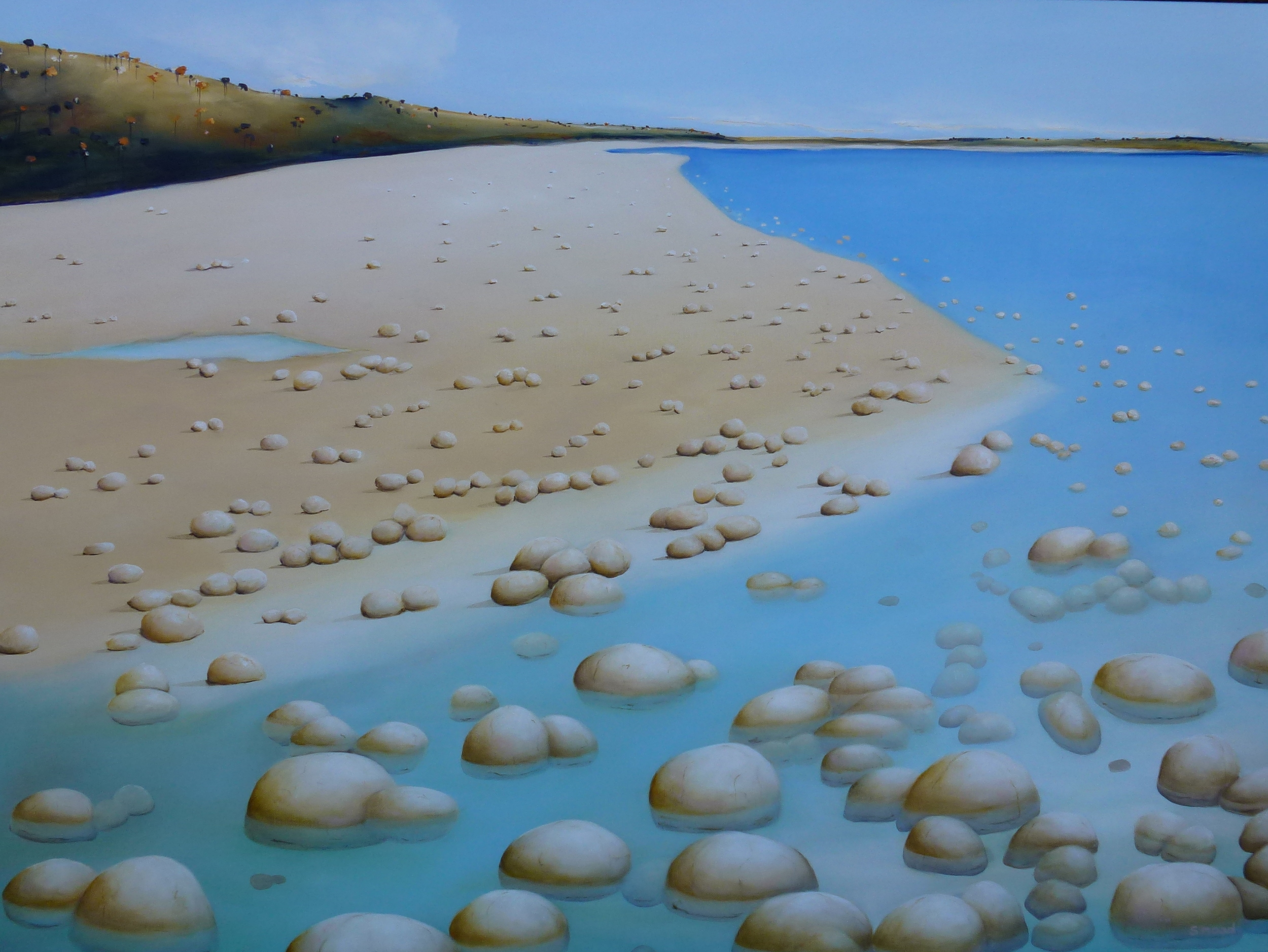 """Tide Goes Out""    Oil on canvas  Size: 120cm x 92cm   Price:  SOLD  $3,500"
