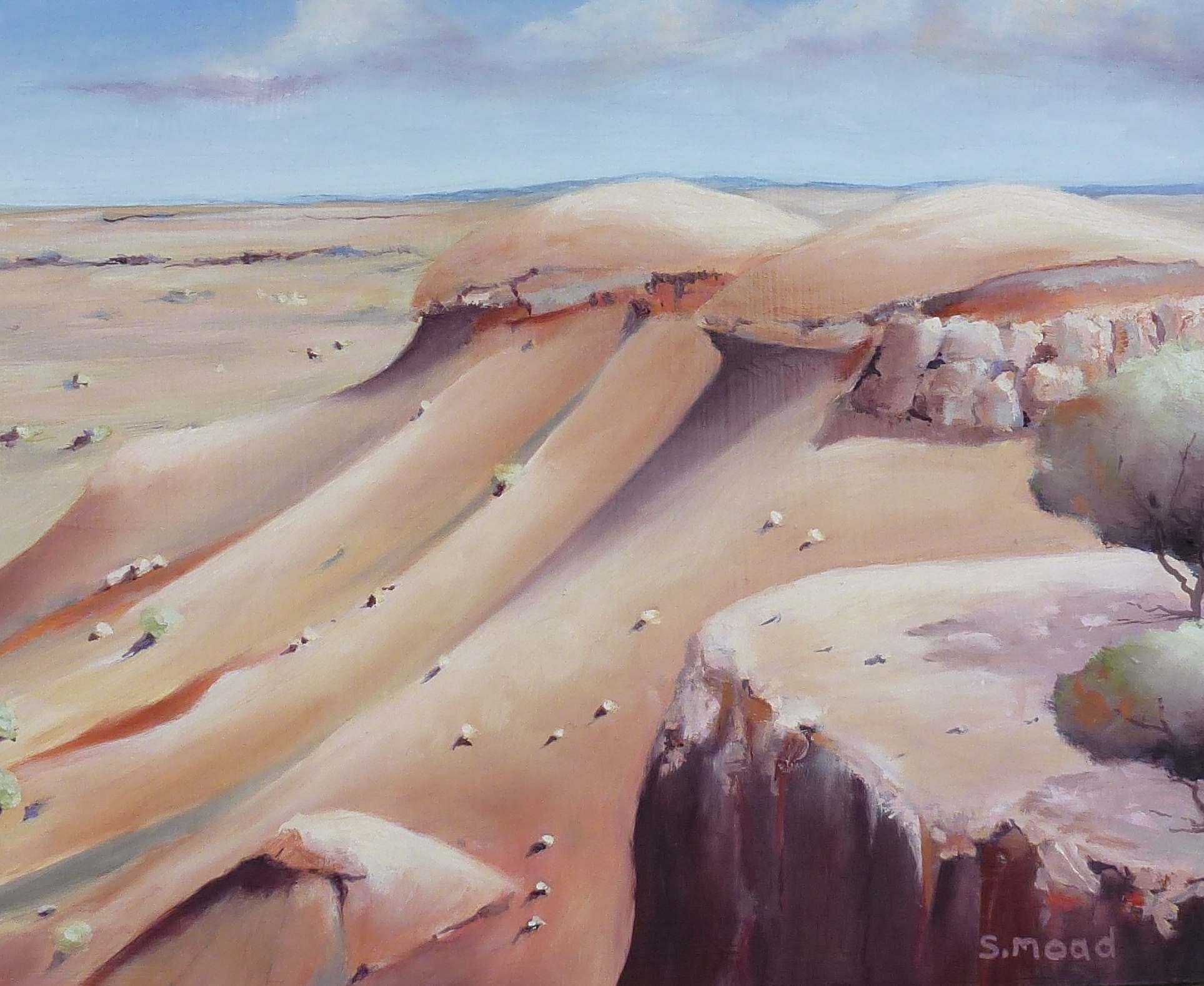 """Painted Desert - No 2""    Oil on masonite  Size: 30cm x 25cm / 12"" x 10 inches    SOLD $1000"