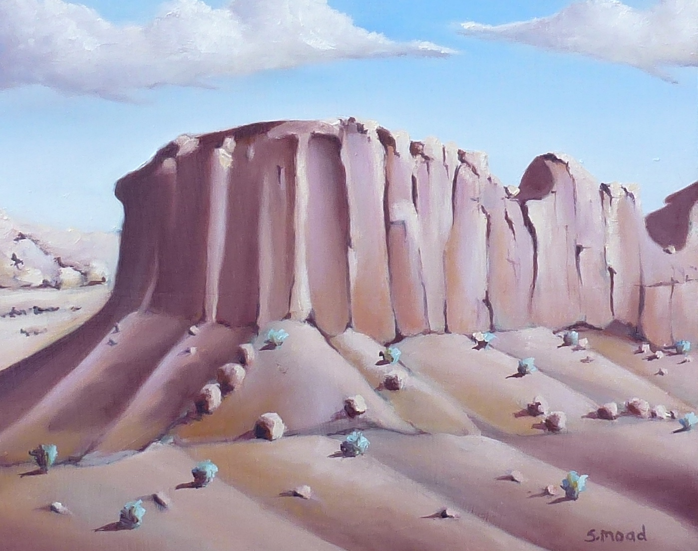 """Utah Butte""     Oil on masonite    Size: 30cm x 25cm / 12"" x 10 inches     SOLD $1000"