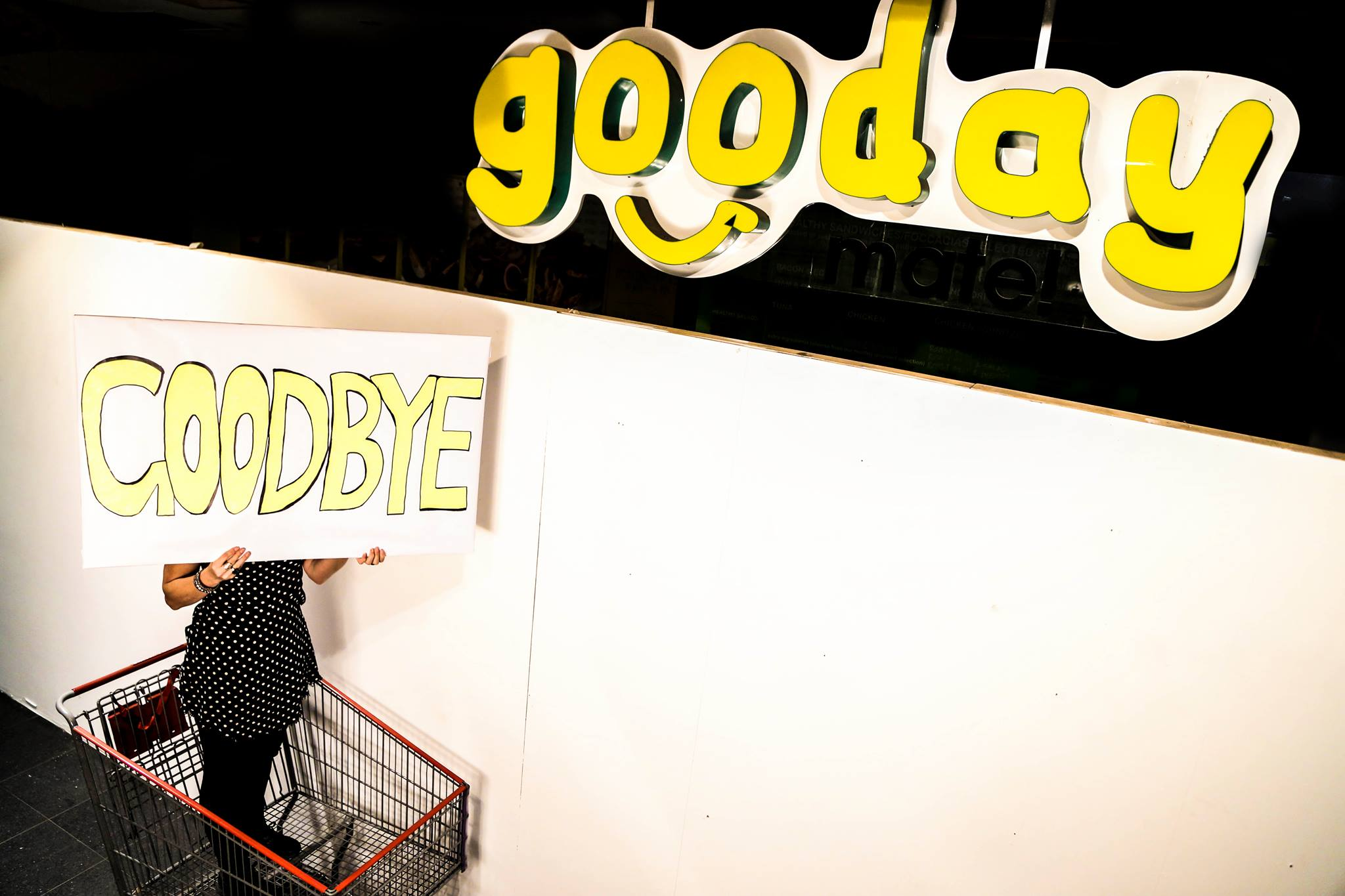 Installation as part of GOOday GOOdbye