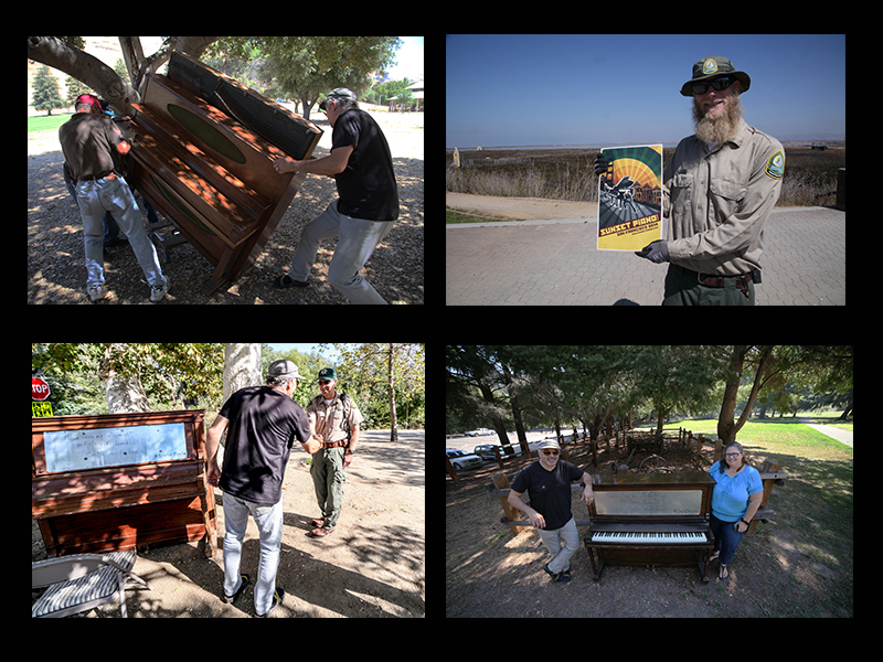 Delivering pianos, friendly rangers, and Sandie Day of Santa Clara County Parks