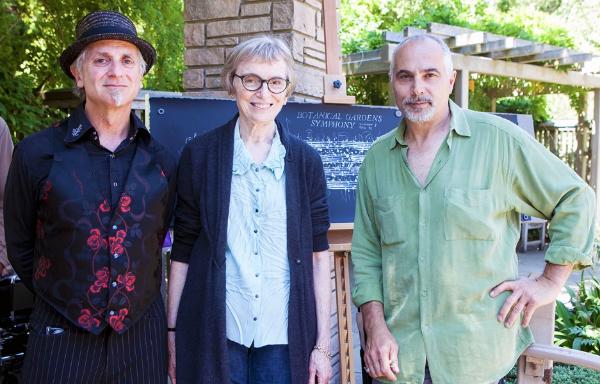 Dean and Mauro with Sue Ann Schiff, Executive Director of San Francisco Botanical Garden